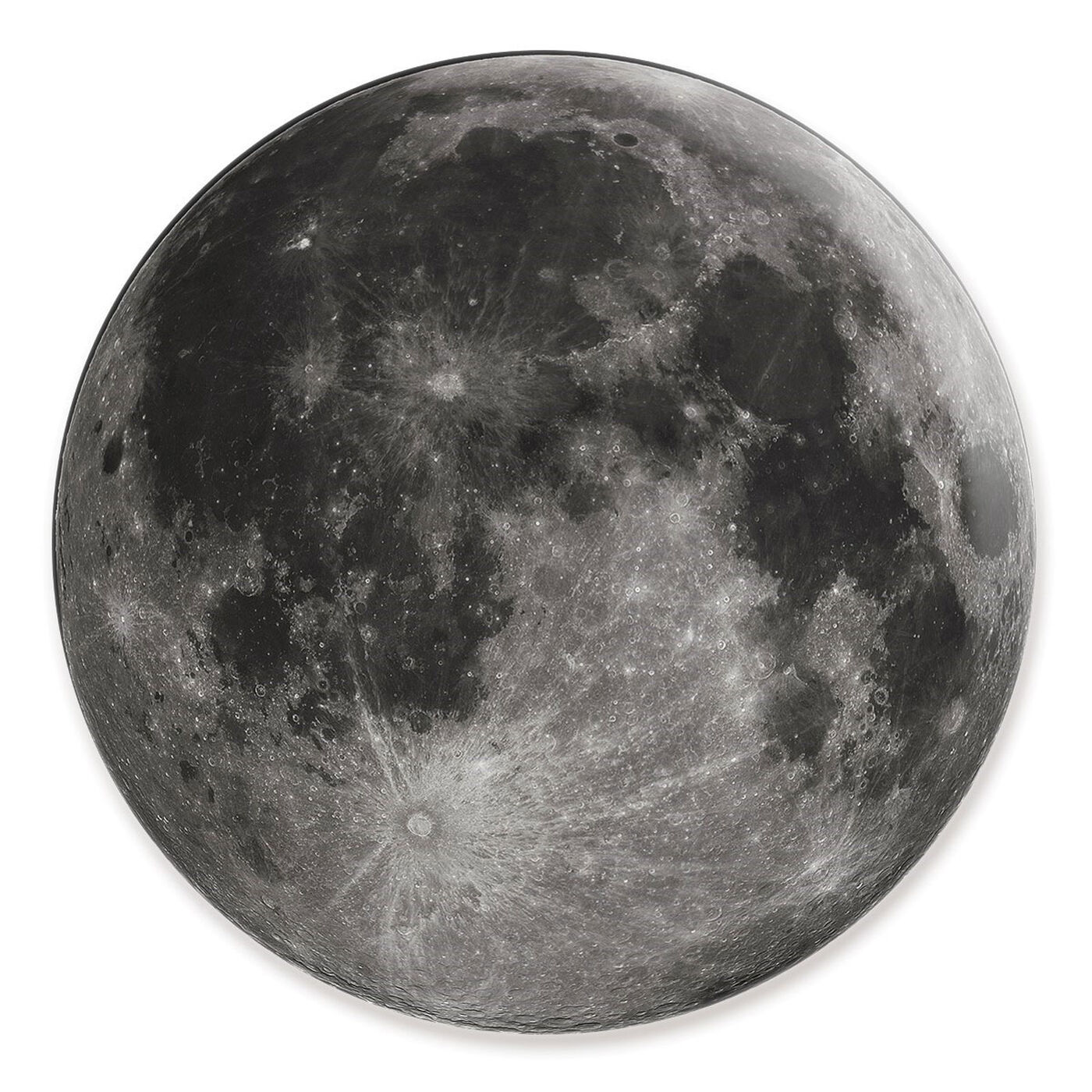 Front view of Moon I featuring astronomy and space and moons phases art.