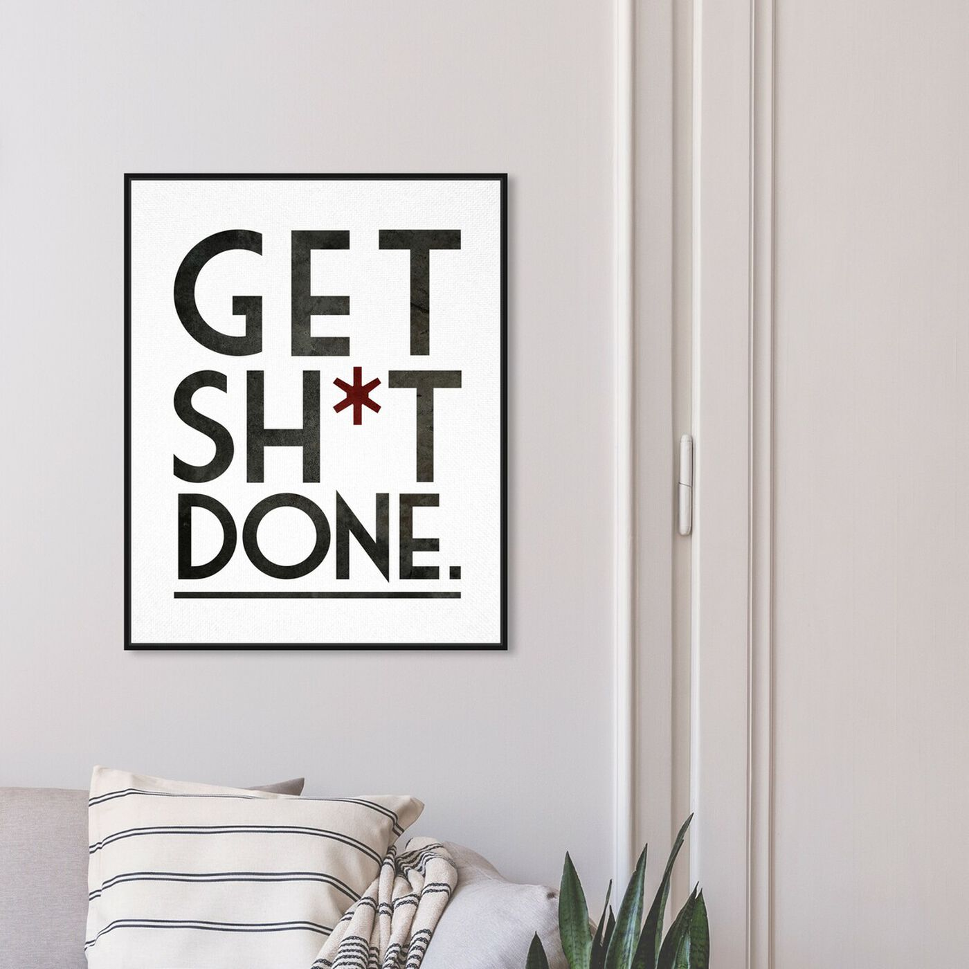 Hanging view of Get It Done featuring typography and quotes and funny quotes and sayings art.