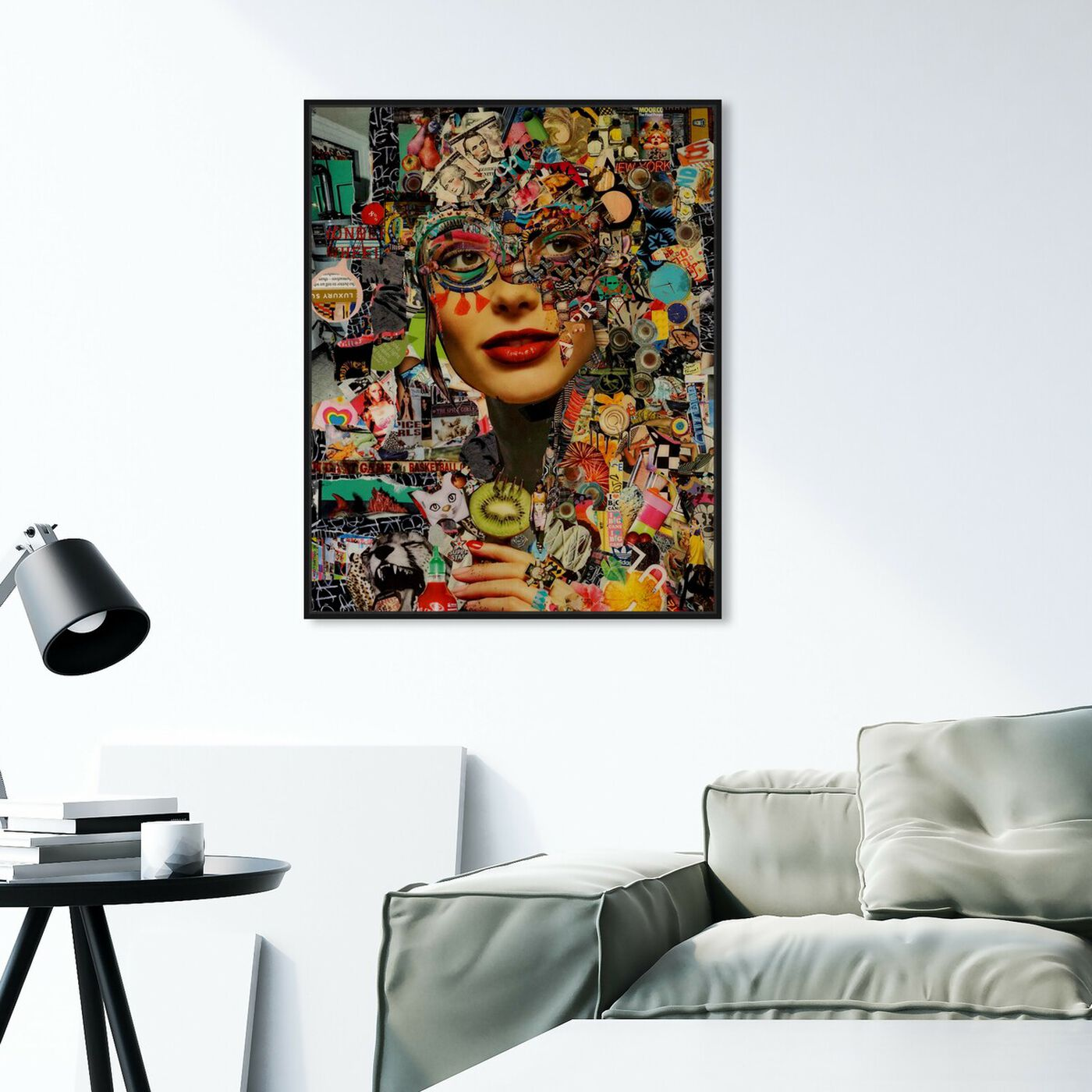 Hanging view of Katy Hirschfeld- Sweet and Sour featuring fashion and glam and portraits art.