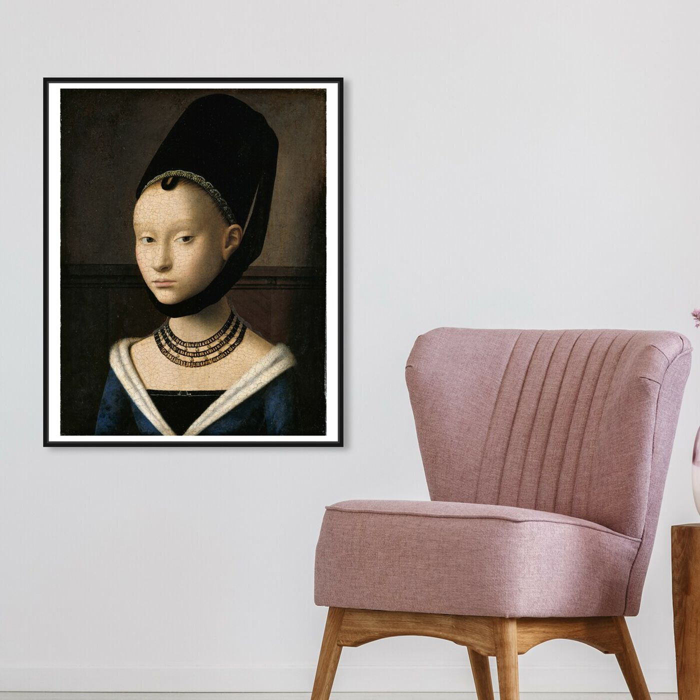 Hanging view of Christus - Portrait of a Young Woman featuring classic and figurative and classic art.