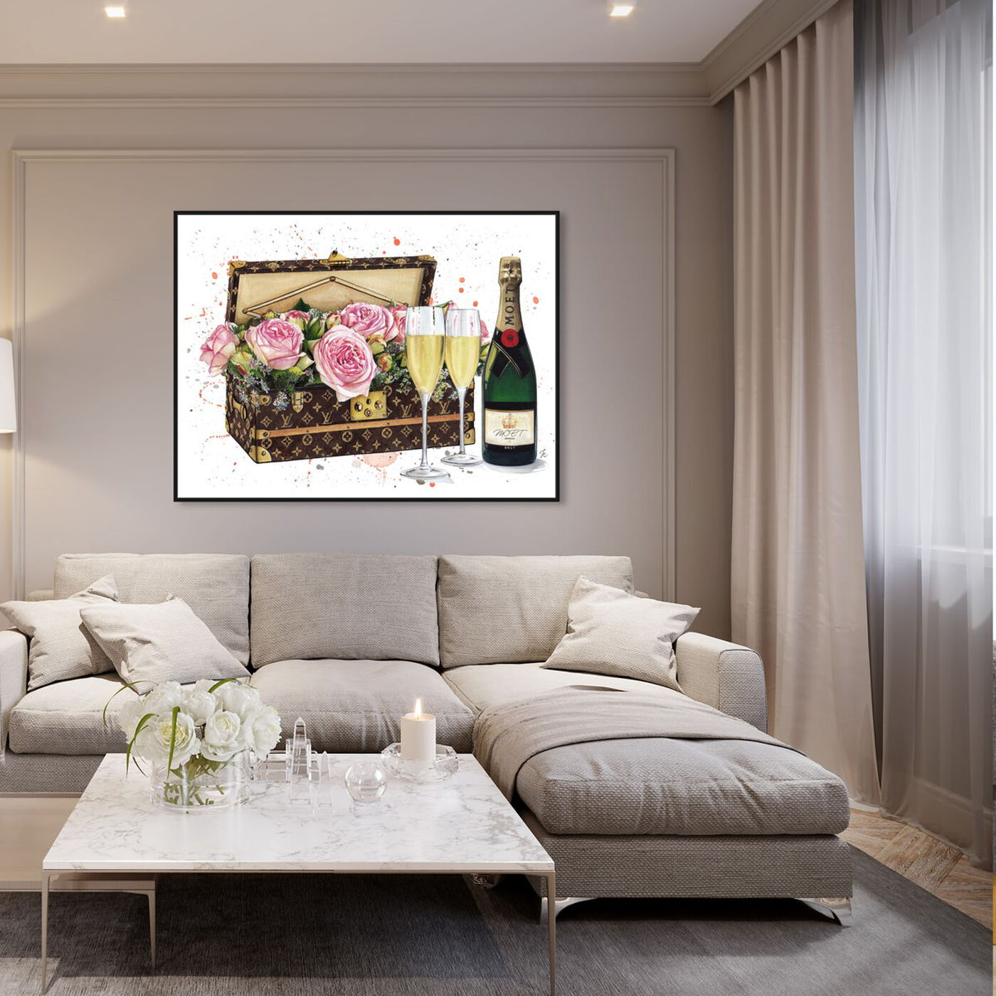 Hanging view of Doll Memories - Trunk Toast featuring fashion and glam and travel essentials art.