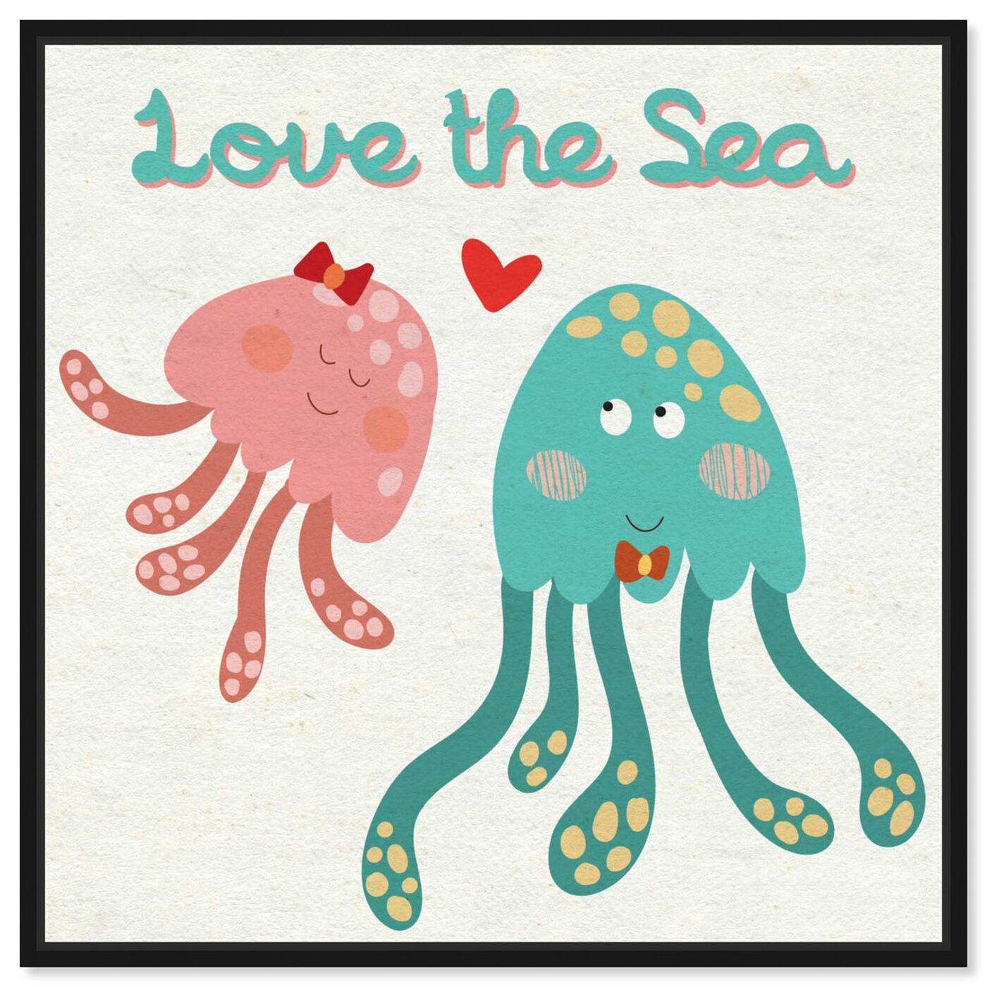 Front view of Love the Sea featuring animals and sea animals art.