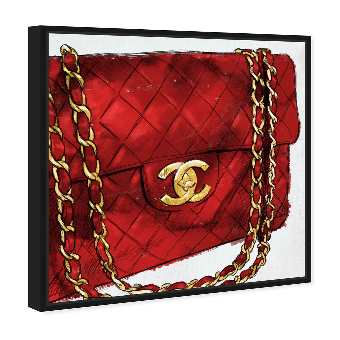 Angled view of Pride and Joy Cherry featuring fashion and glam and handbags art.