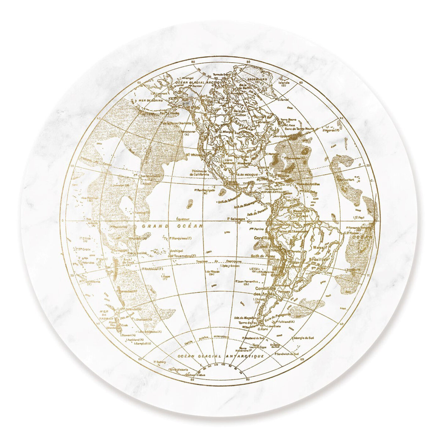 Front view of World Hemispheres I II featuring maps and flags and world maps art.