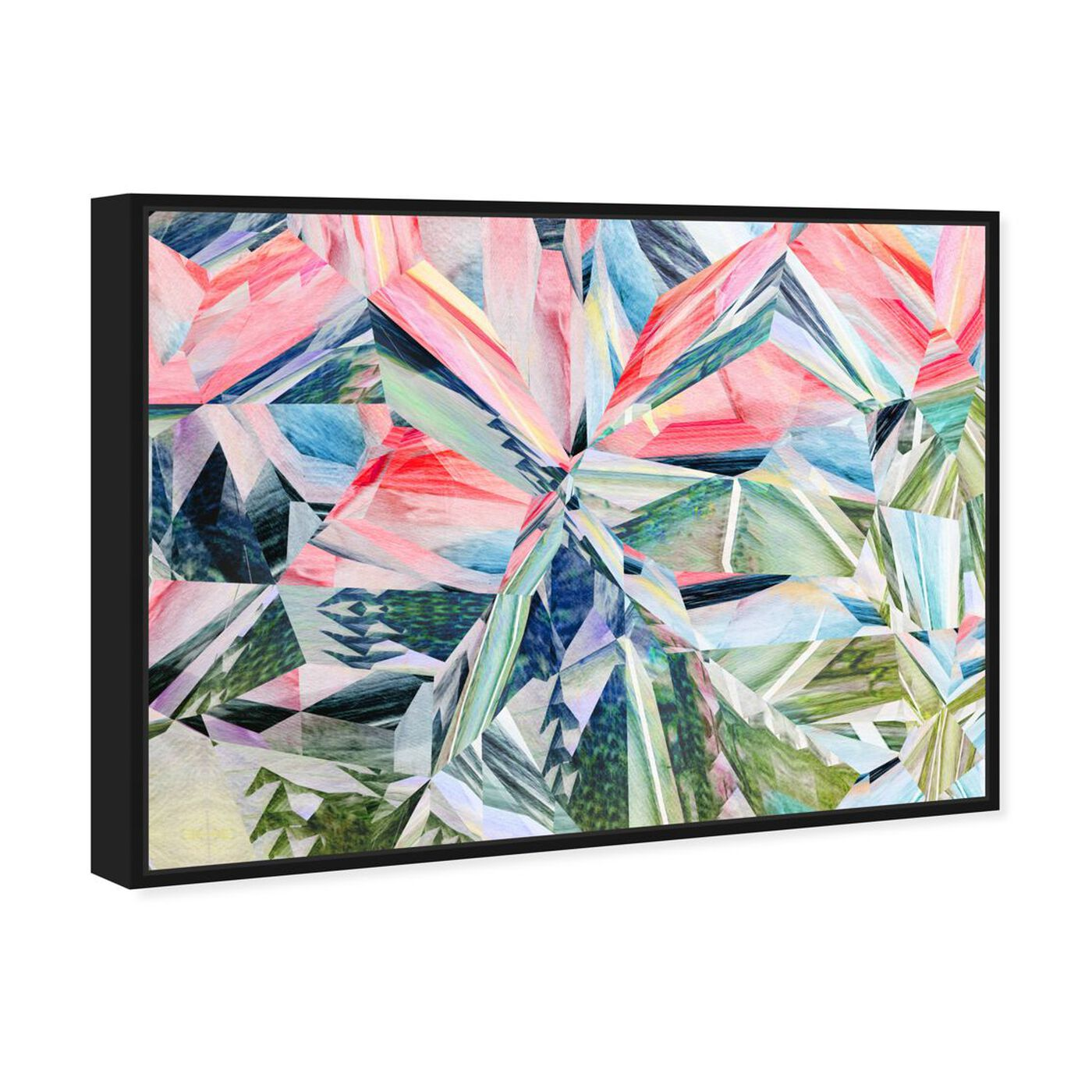 Angled view of Right Choice featuring abstract and geometric art.