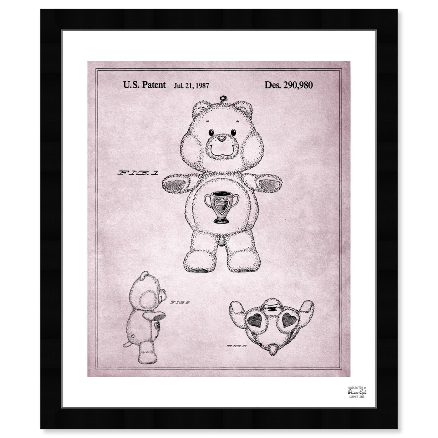 Front view of Carebears - Champ Bear 1987 featuring symbols and objects and toys art.