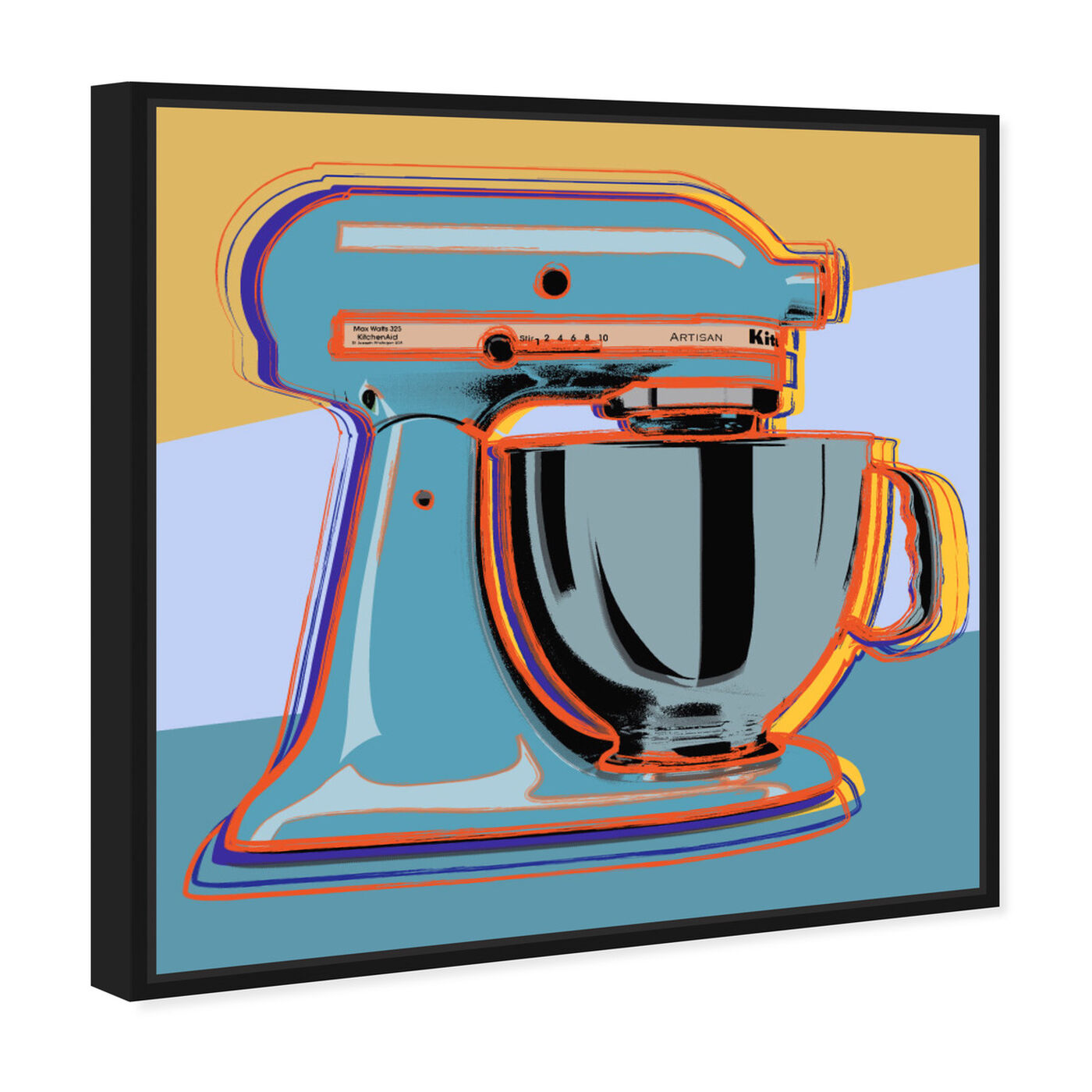 Angled view of Classic Blender featuring food and cuisine and baking essentials art.
