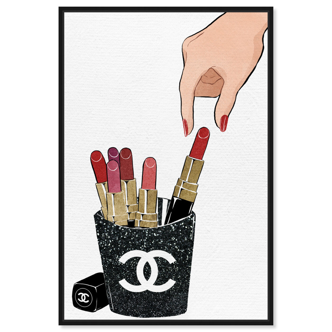 Front view of Lipstick Fries featuring fashion and glam and makeup art.