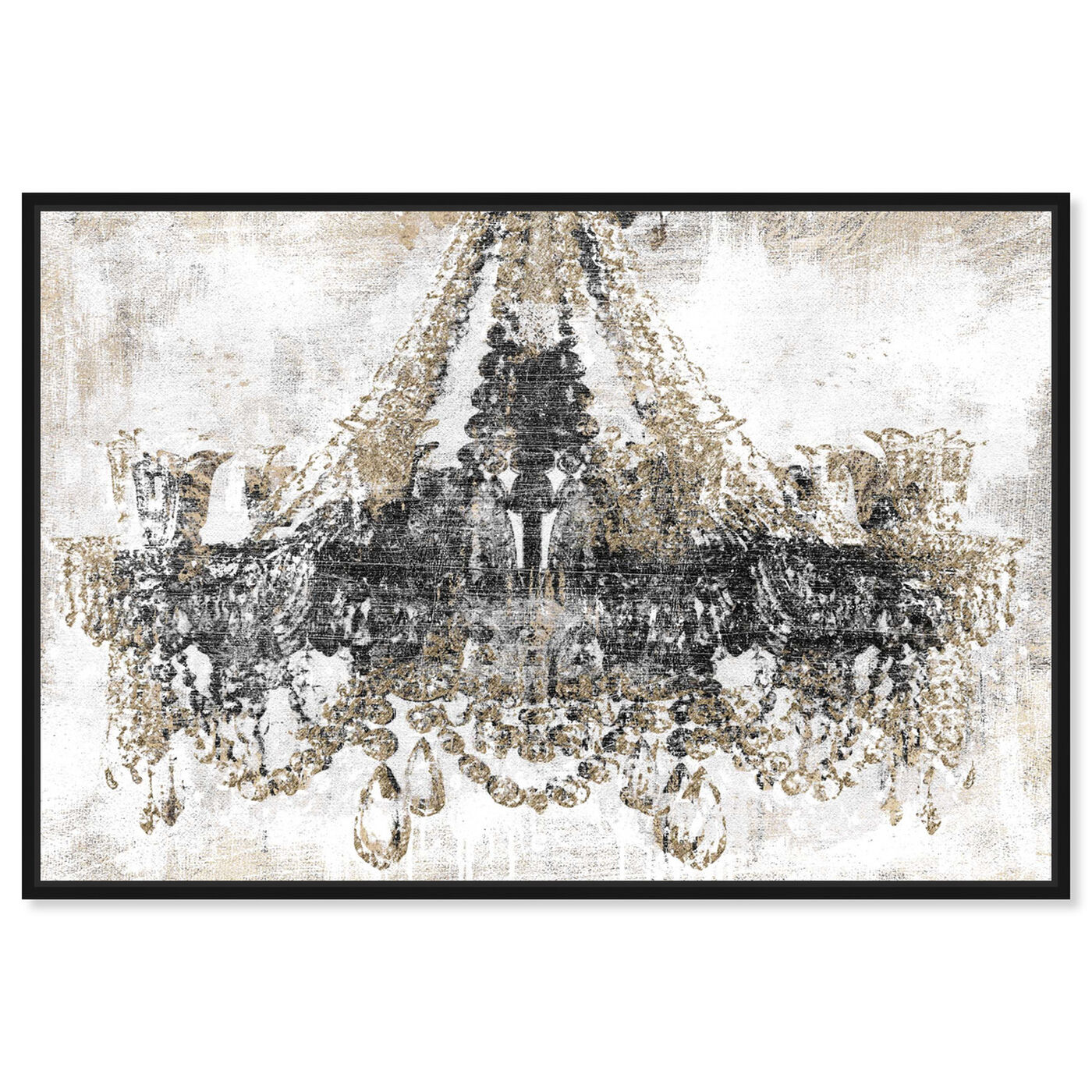 Front view of Luxury Night Diamonds featuring fashion and glam and chandeliers art.