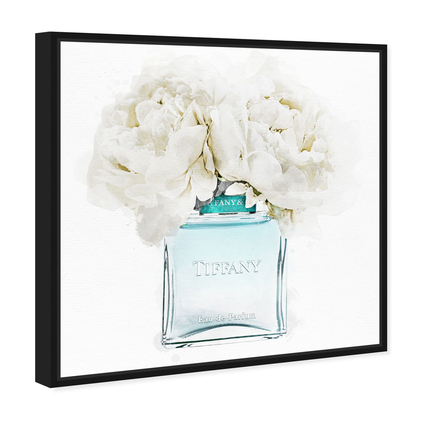 Angled view of Dawn Morning Bouquet Aquamarine featuring fashion and glam and perfumes art.