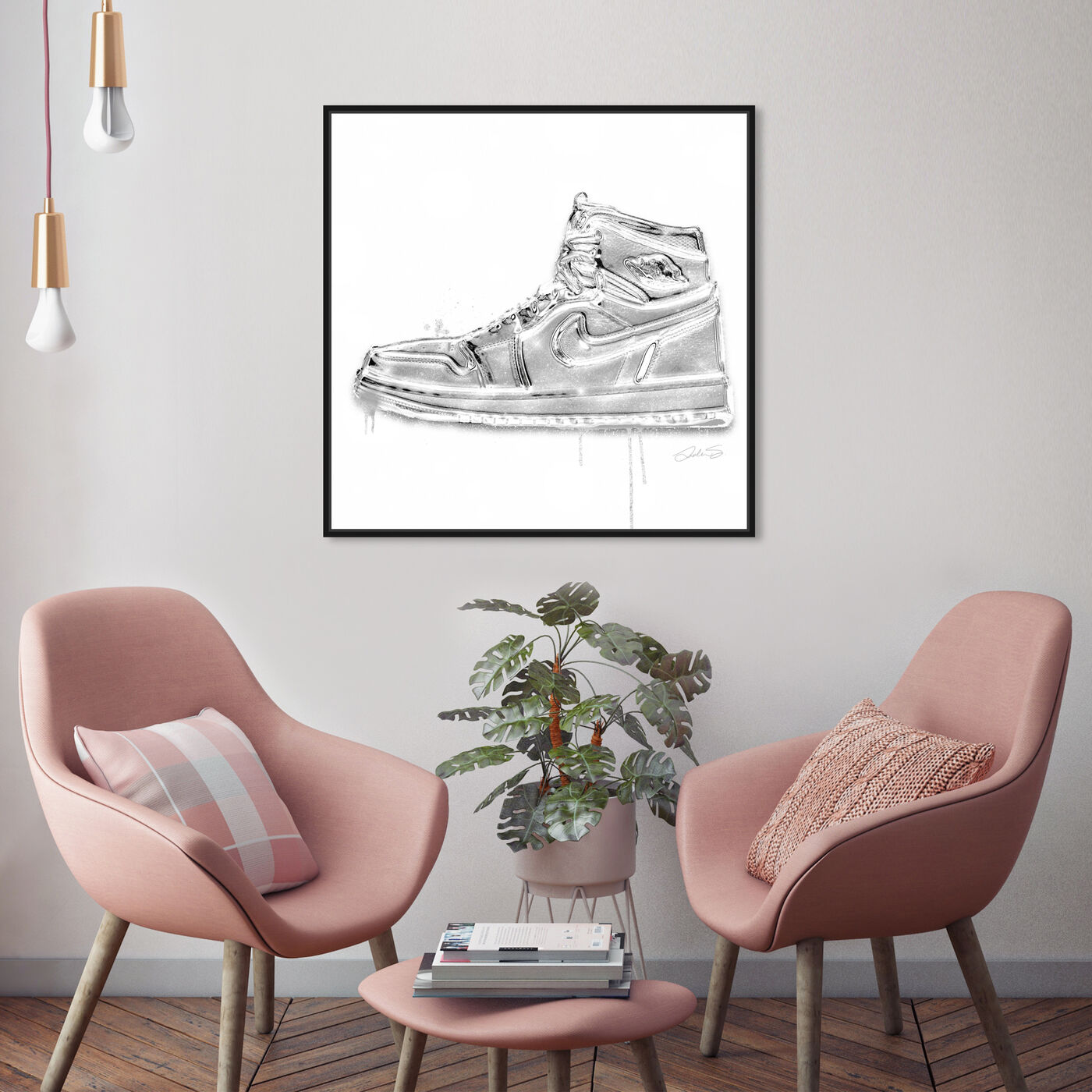 Hanging view of Lola Air featuring fashion and glam and shoes art.