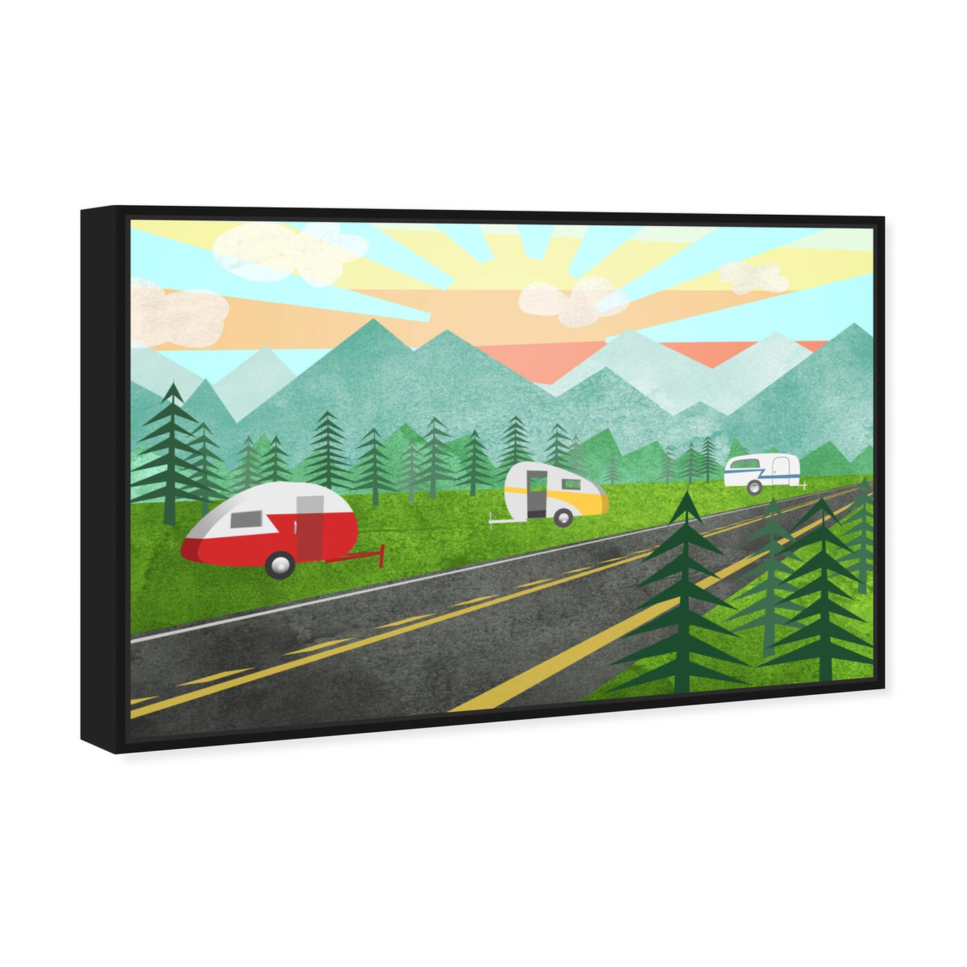 Angled view of Campers In the Wild featuring entertainment and hobbies and camping art.