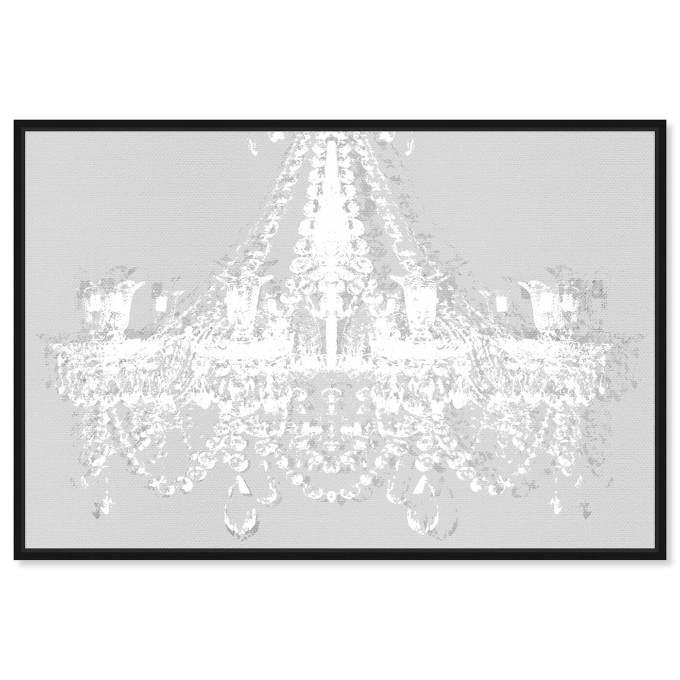 Front view of Dramatic Entrance Silent Gray featuring fashion and glam and chandeliers art.