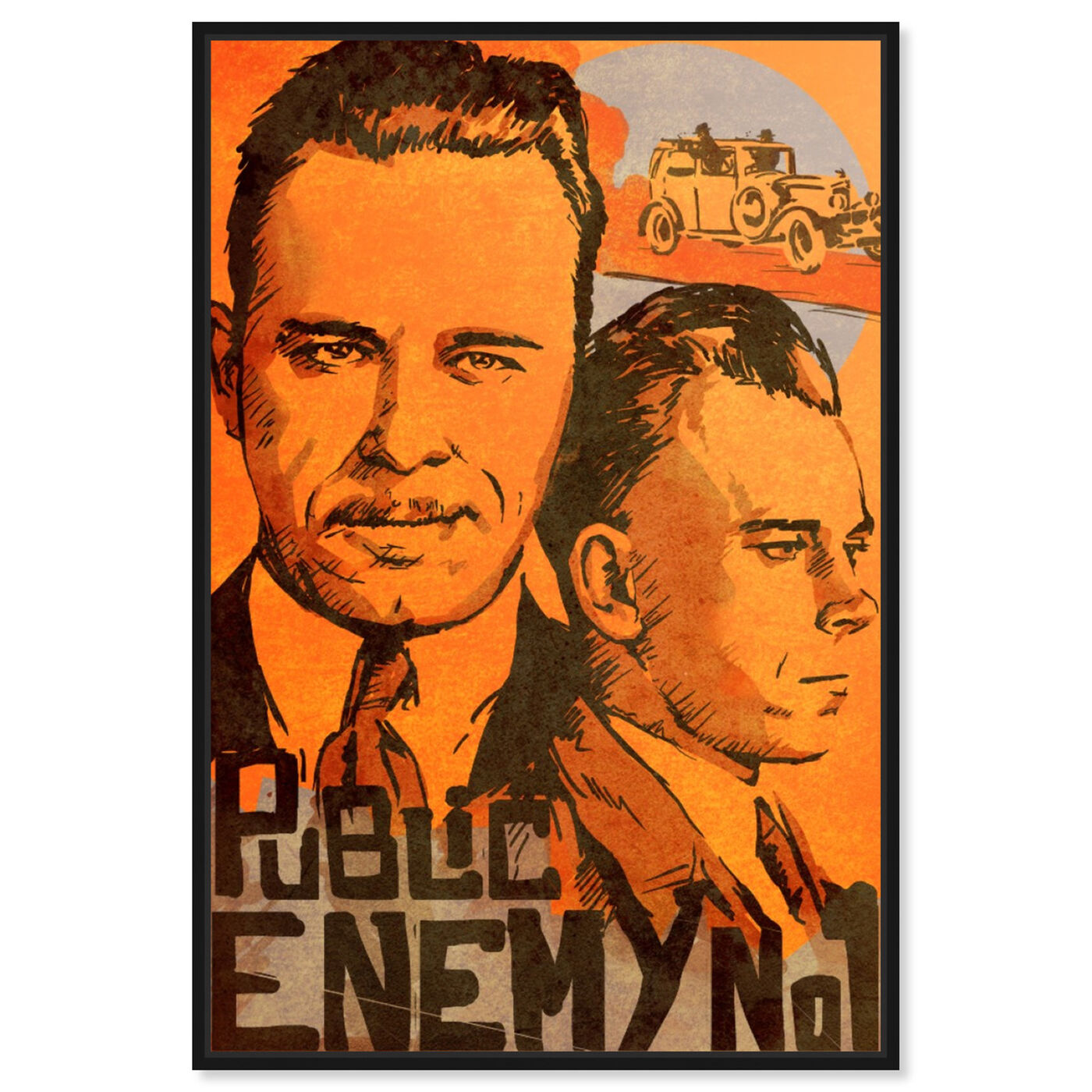 Front view of Dillinger Public Enemy featuring movies and tv and action movies art.