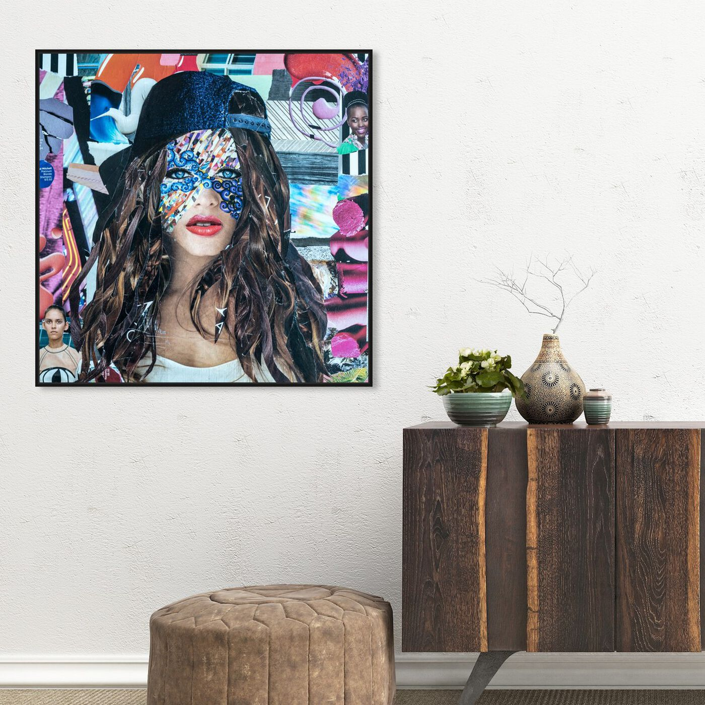 Hanging view of Ruby by Katy Hirschfeld featuring fashion and glam and portraits art.