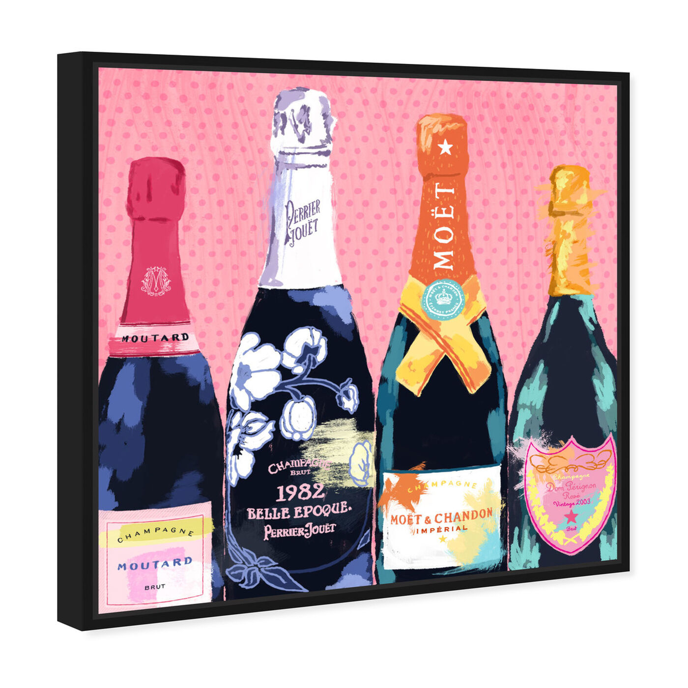 Angled view of Pass The Bottle! featuring drinks and spirits and champagne art.