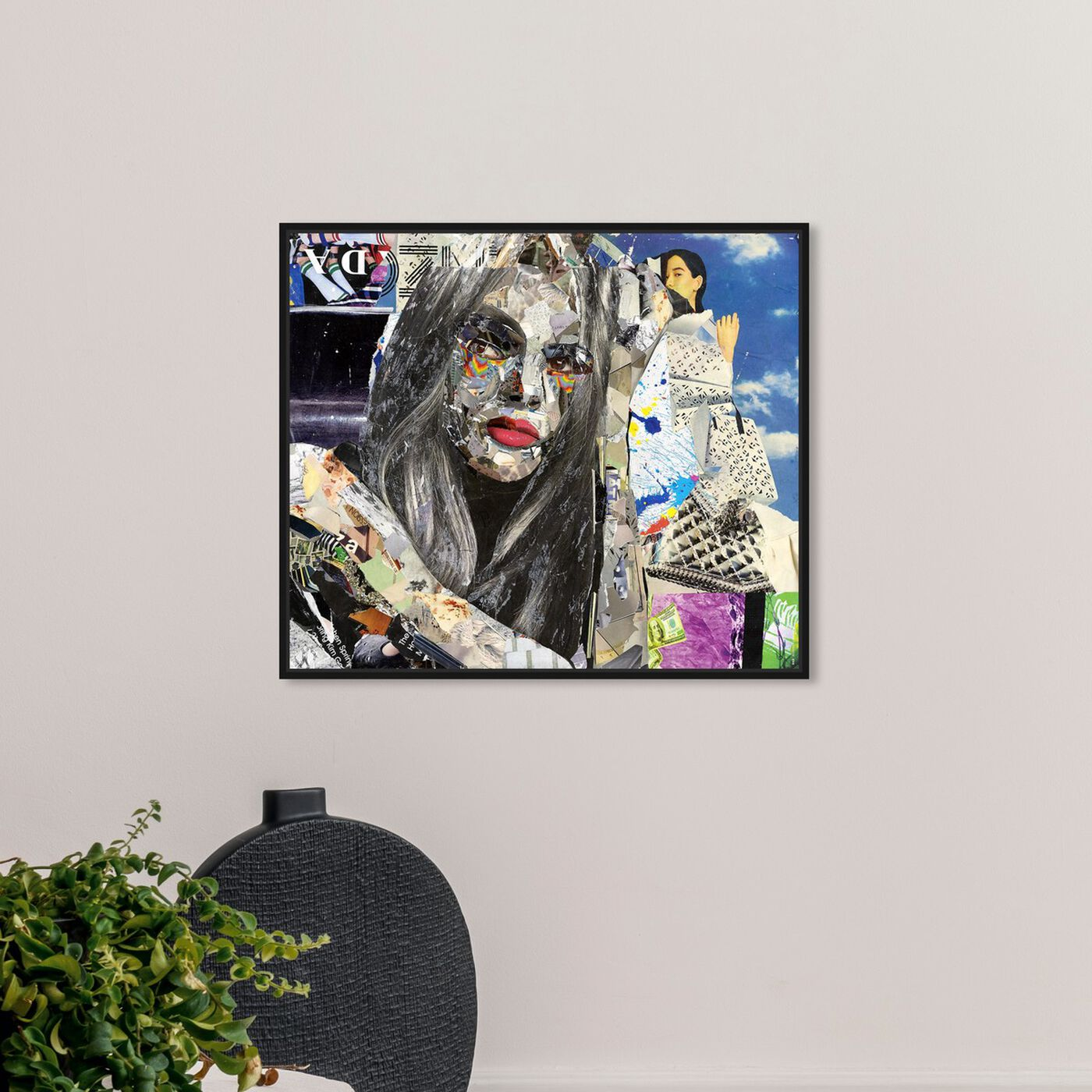 Hanging view of Katy Hirschfeld - Elegant Flow featuring fashion and glam and portraits art.