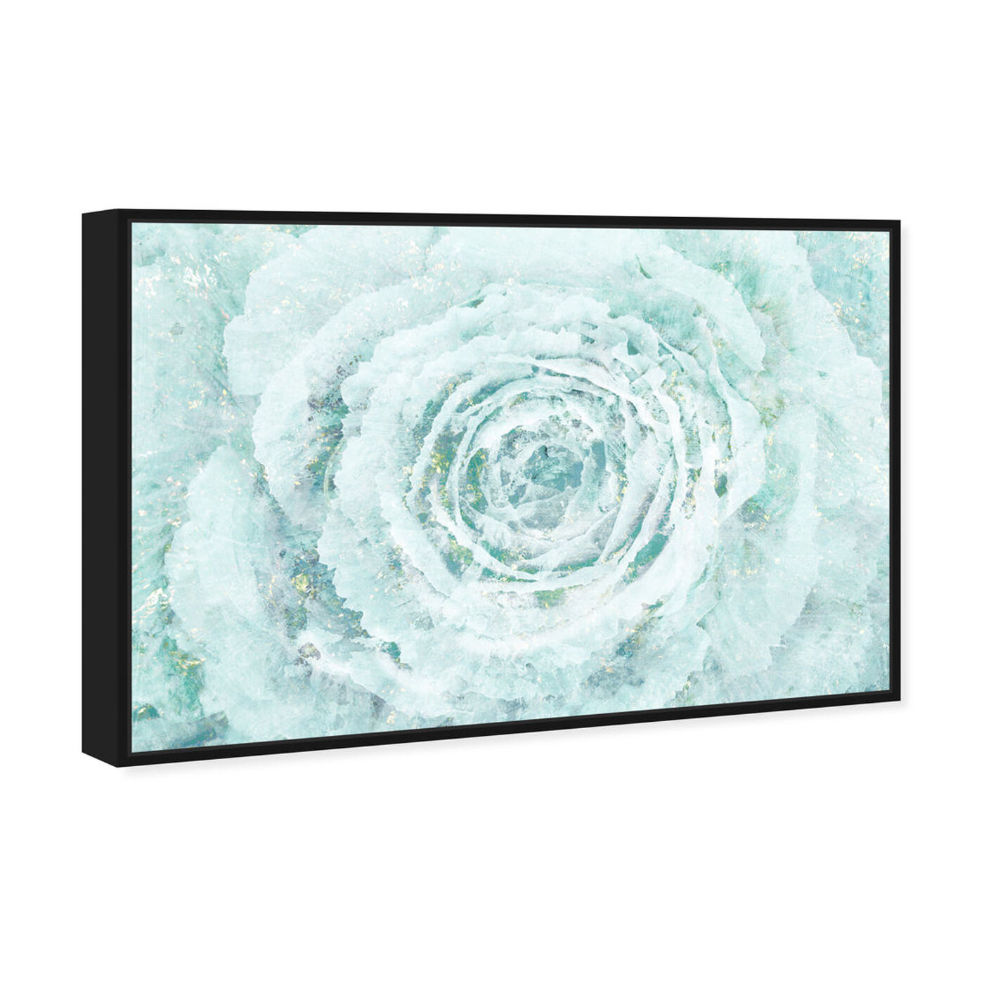 Angled view of Blush Winter Flower featuring floral and botanical and florals art.
