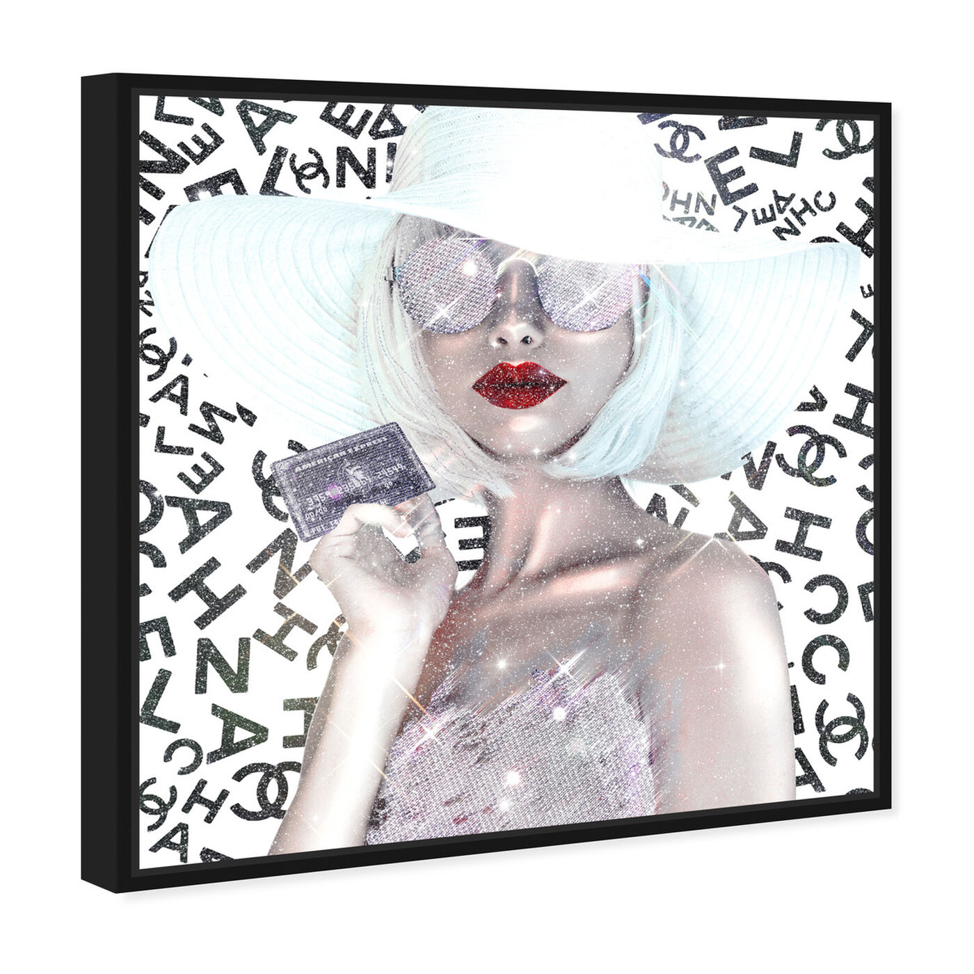 Angled view of Black Card is my Business Card featuring fashion and glam and accessories art.