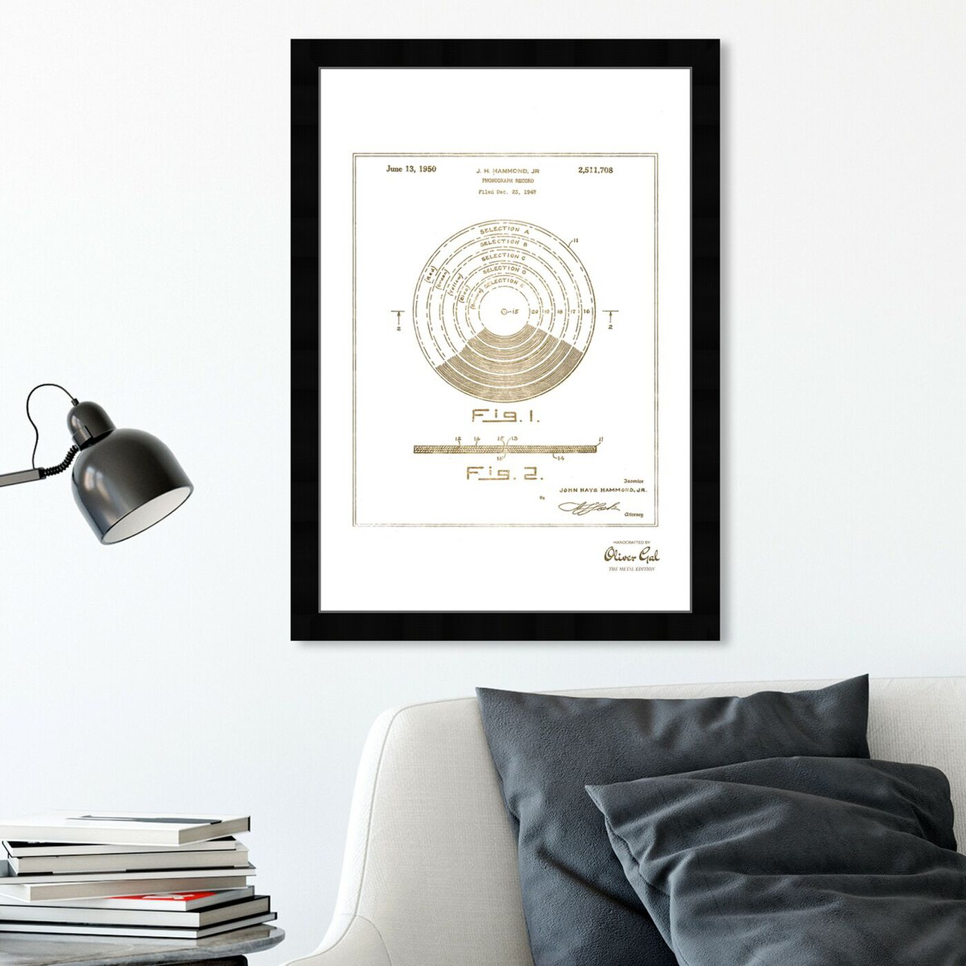 Hanging view of Vinyl Record 1948 II Gold featuring music and dance and vinyl records art.