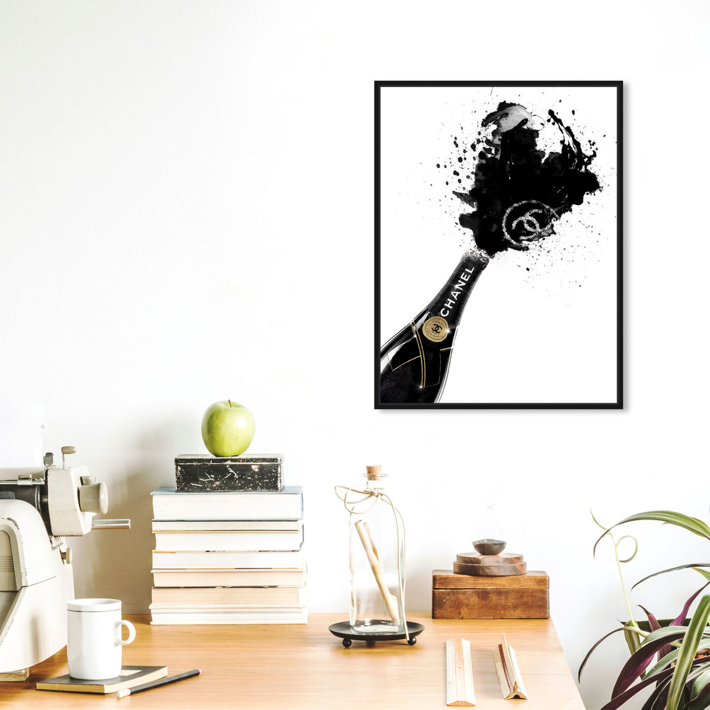 Hanging view of Noir Champagne featuring fashion and glam and lifestyle art.