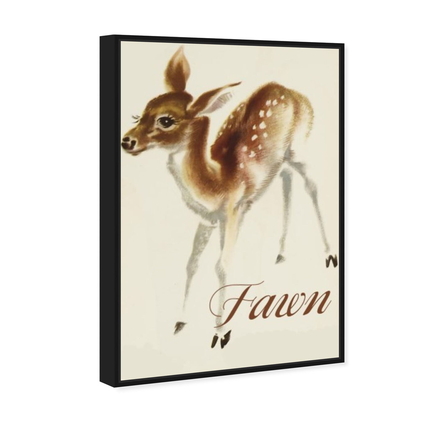 Angled view of Fawn featuring animals and baby animals art.