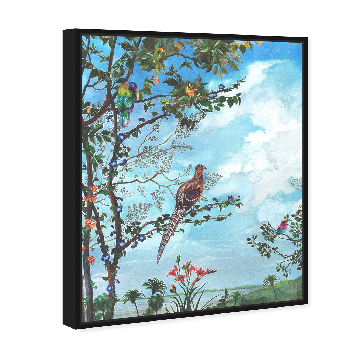 Angled view of Peaceful Moment Birds featuring animals and birds art.