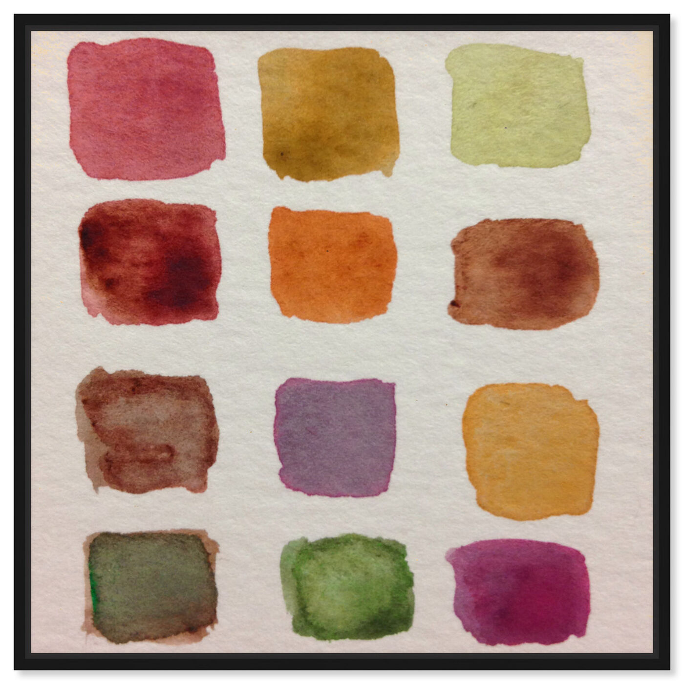 Front view of Fall Palette featuring abstract and watercolor art.