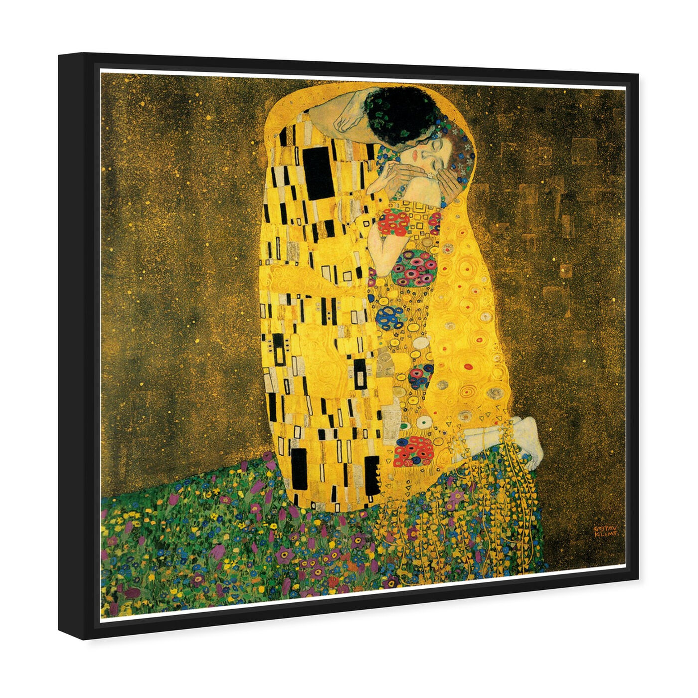 Angled view of Klimt - The Kiss featuring classic and figurative and classic art.