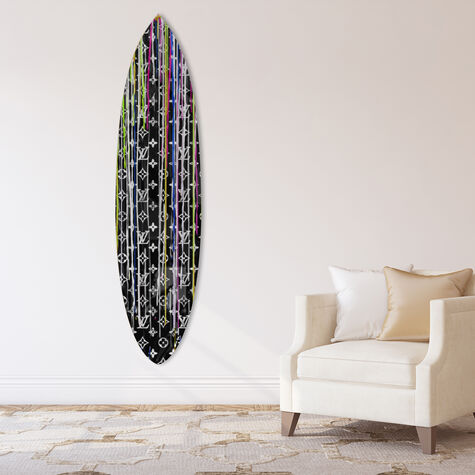 Pop Art Drip Night Surfboard