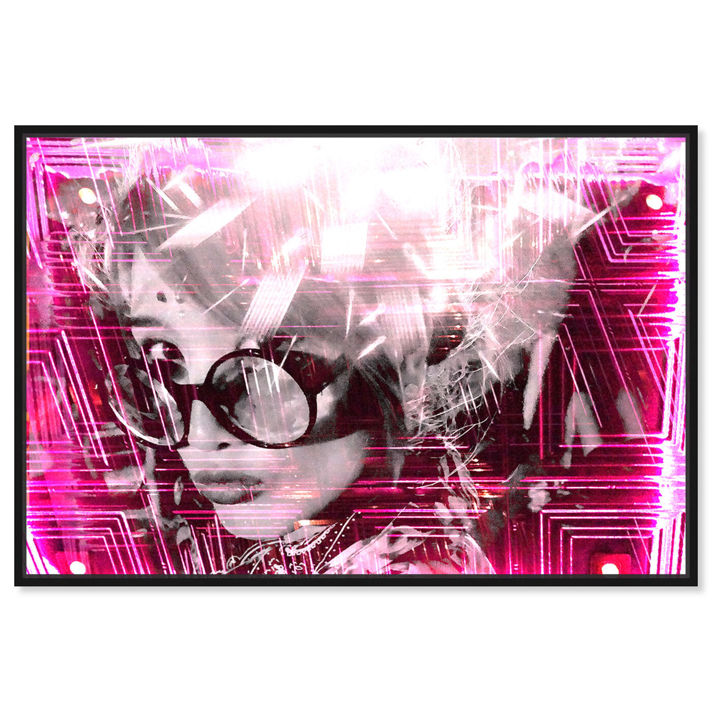 Front view of Curro Cardenal - Pink neon featuring people and portraits and portraits art.