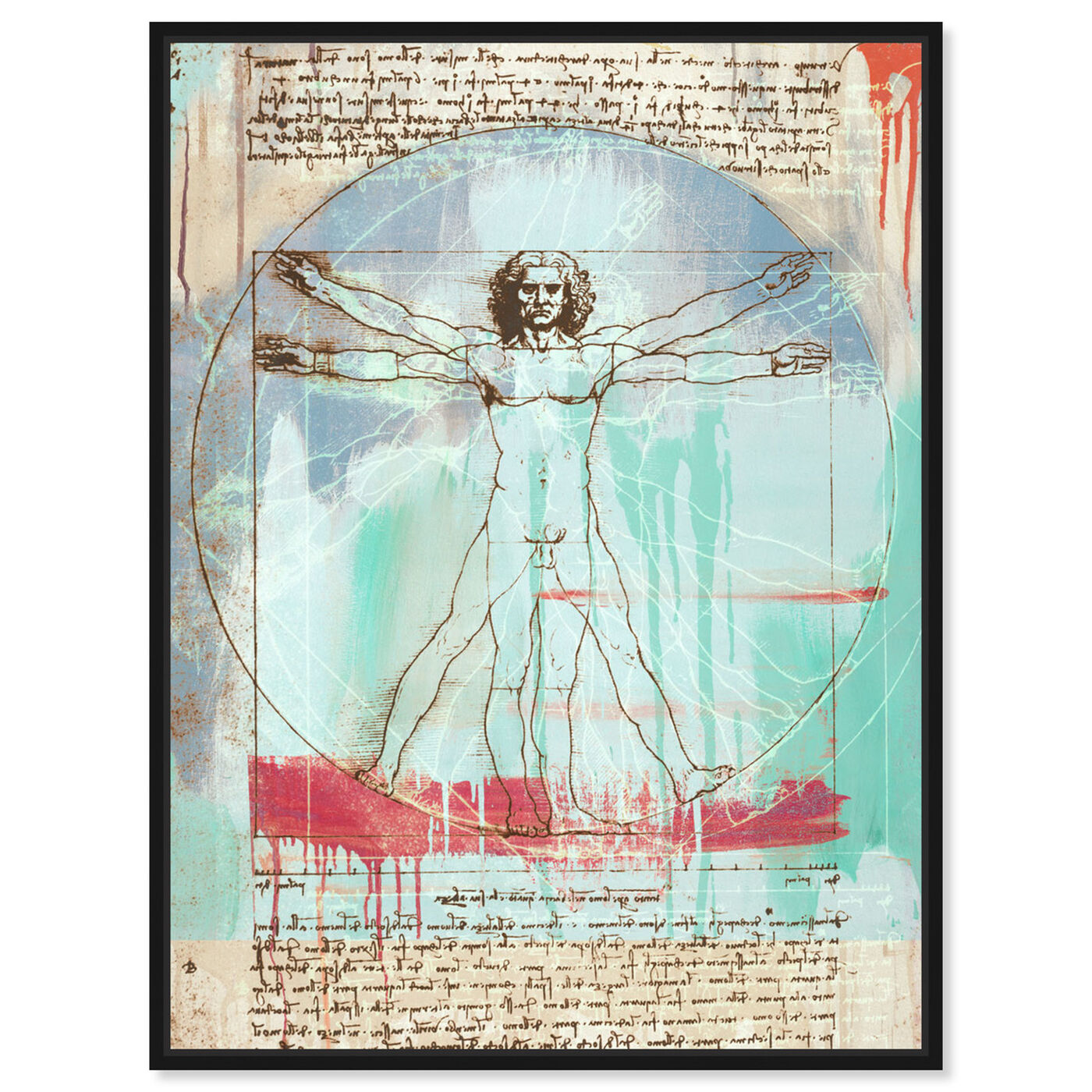 Front view of Sai - Vitruvian Man 3EH2821 featuring education and office and scientist art.