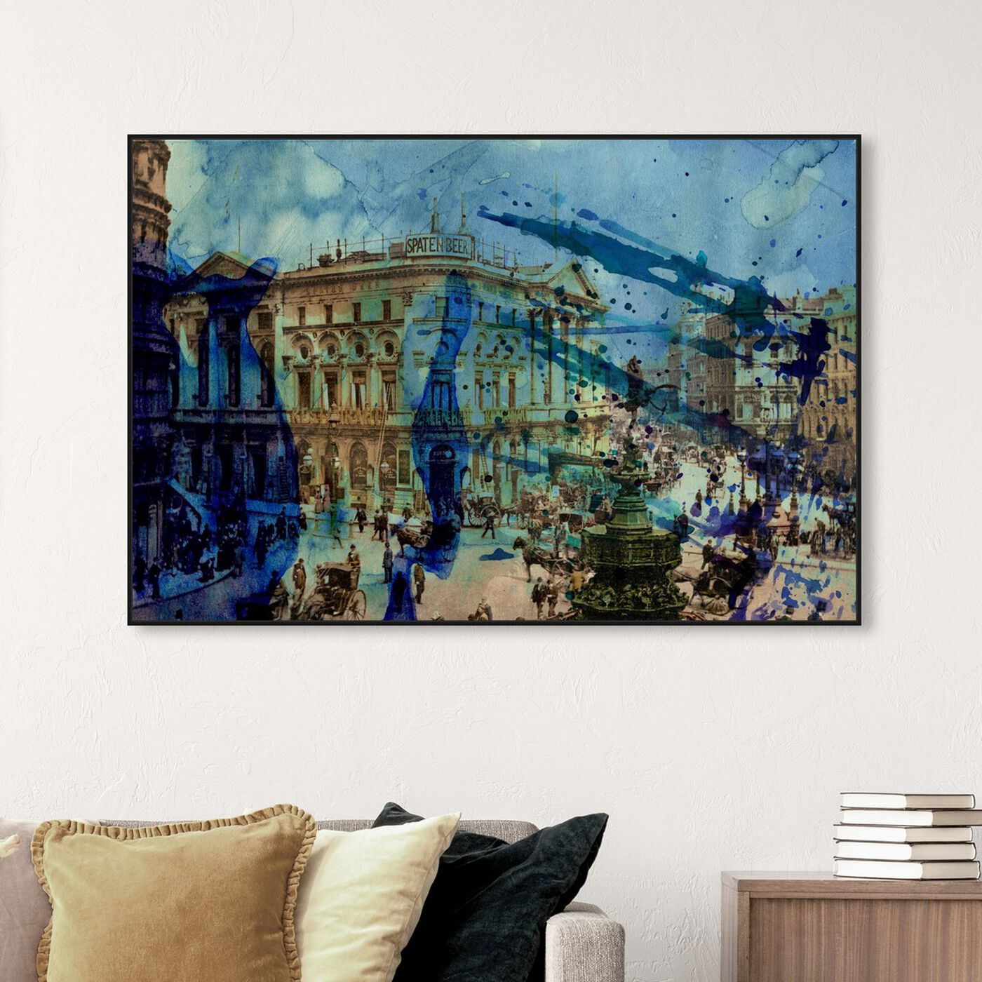Hanging view of Picadilly featuring world and countries and european cultures art.