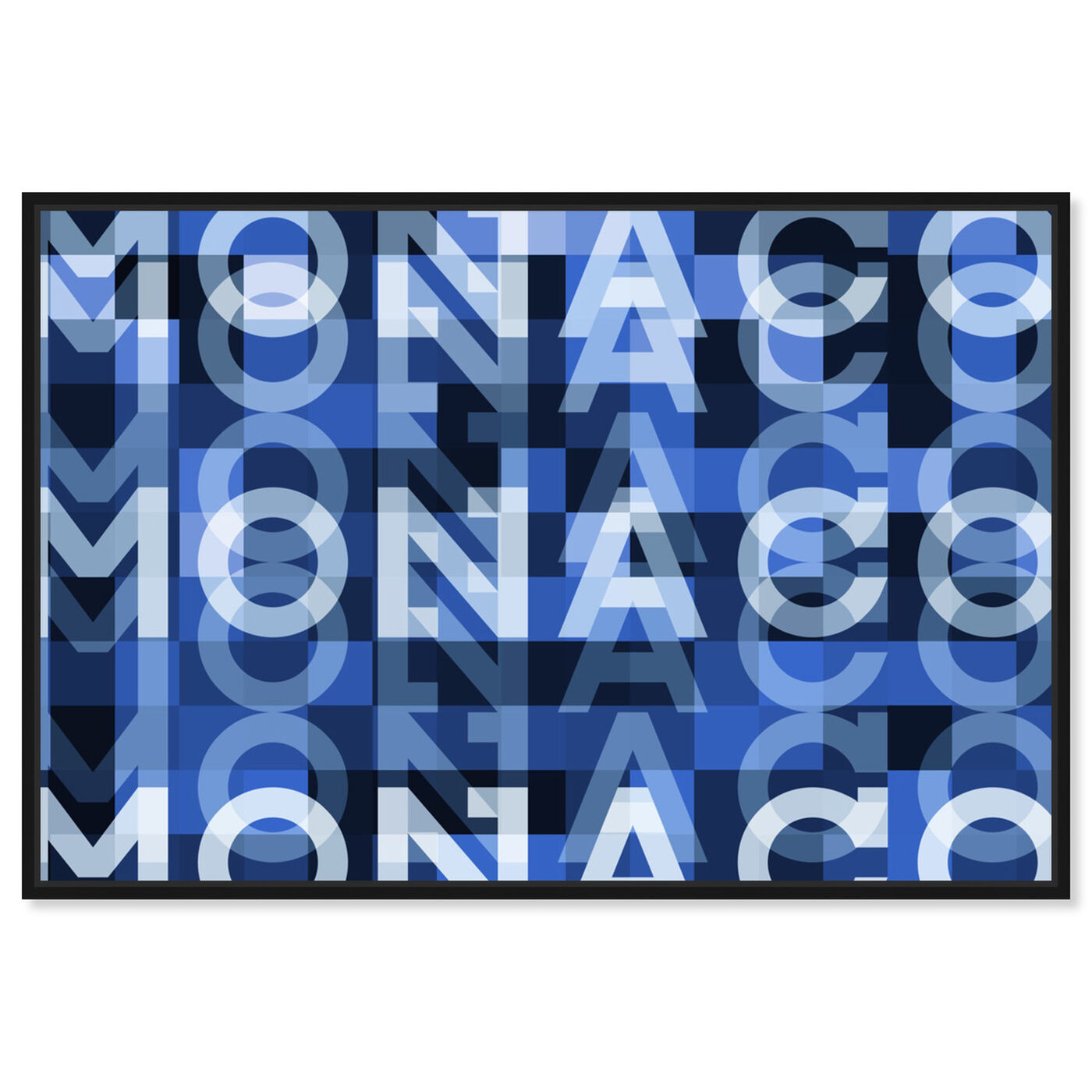 Front view of Monaco featuring world and countries and european countries art.