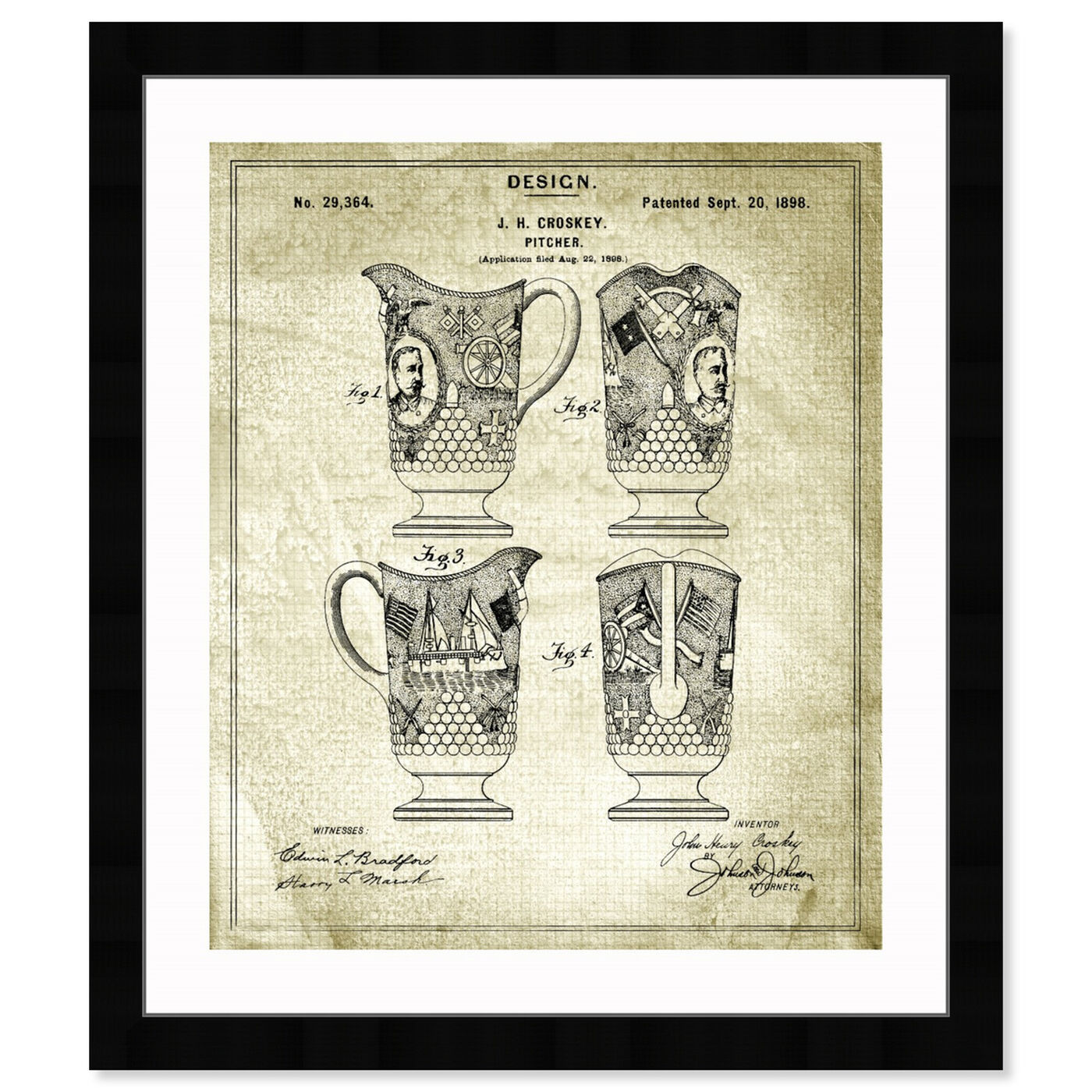 Front view of Pitcher 1898 featuring food and cuisine and kitchen art.