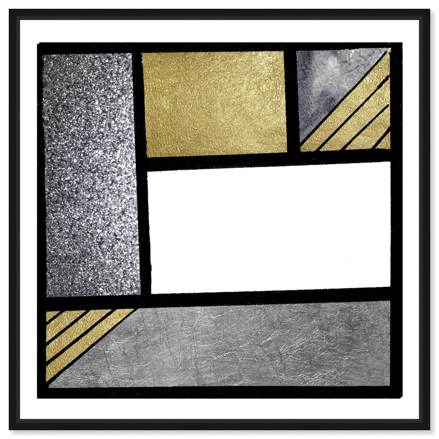 Front view of Gold Feeling featuring abstract and geometric art.