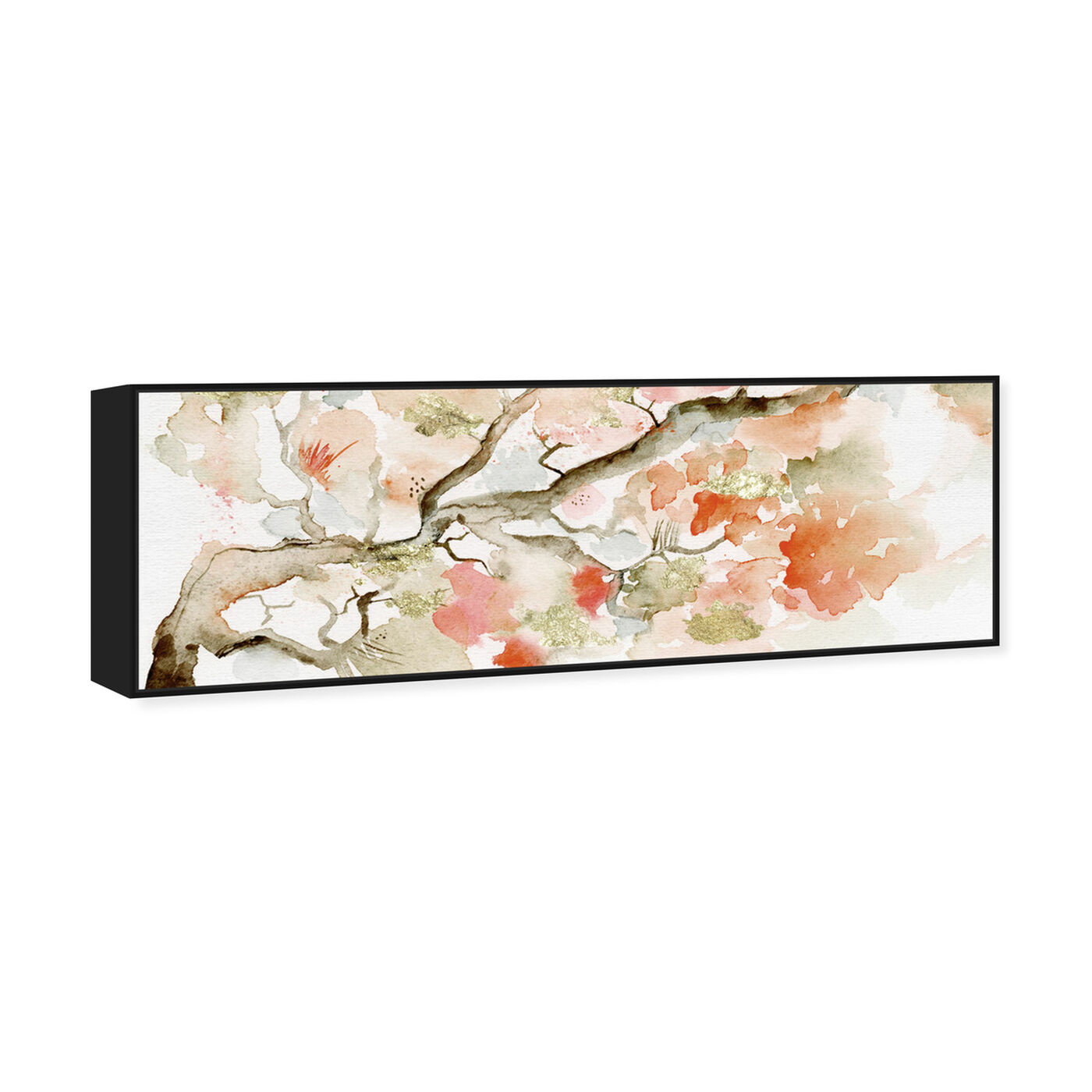 Angled view of Under The Blossom Tree Sandstone featuring floral and botanical and florals art.