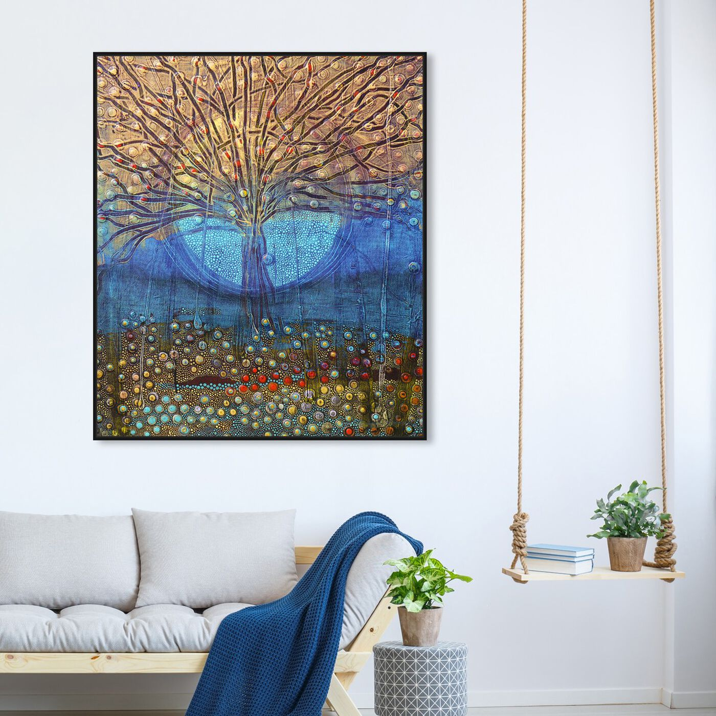 Hanging view of Enriqueta Ahrensburg - Paraiso featuring abstract and paint art.