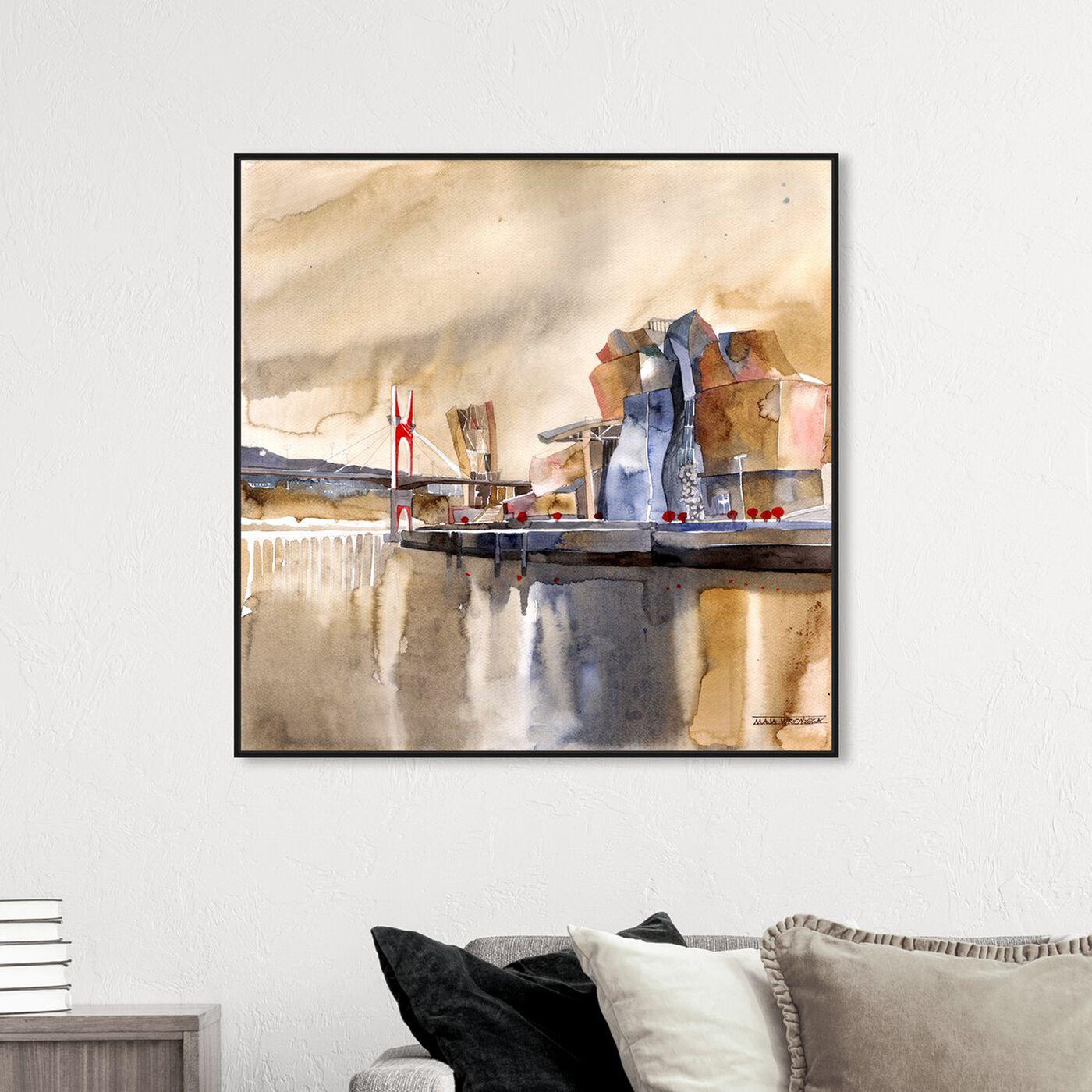 Hanging view of Maja Wronska - Bilbo featuring cities and skylines and world cities art.