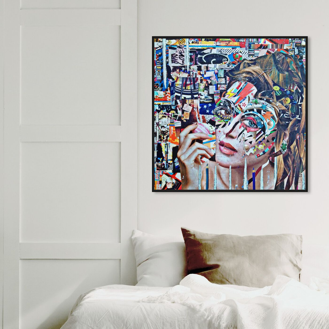 Hanging view of Eos by Katy Hirschfeld featuring fashion and glam and portraits art.
