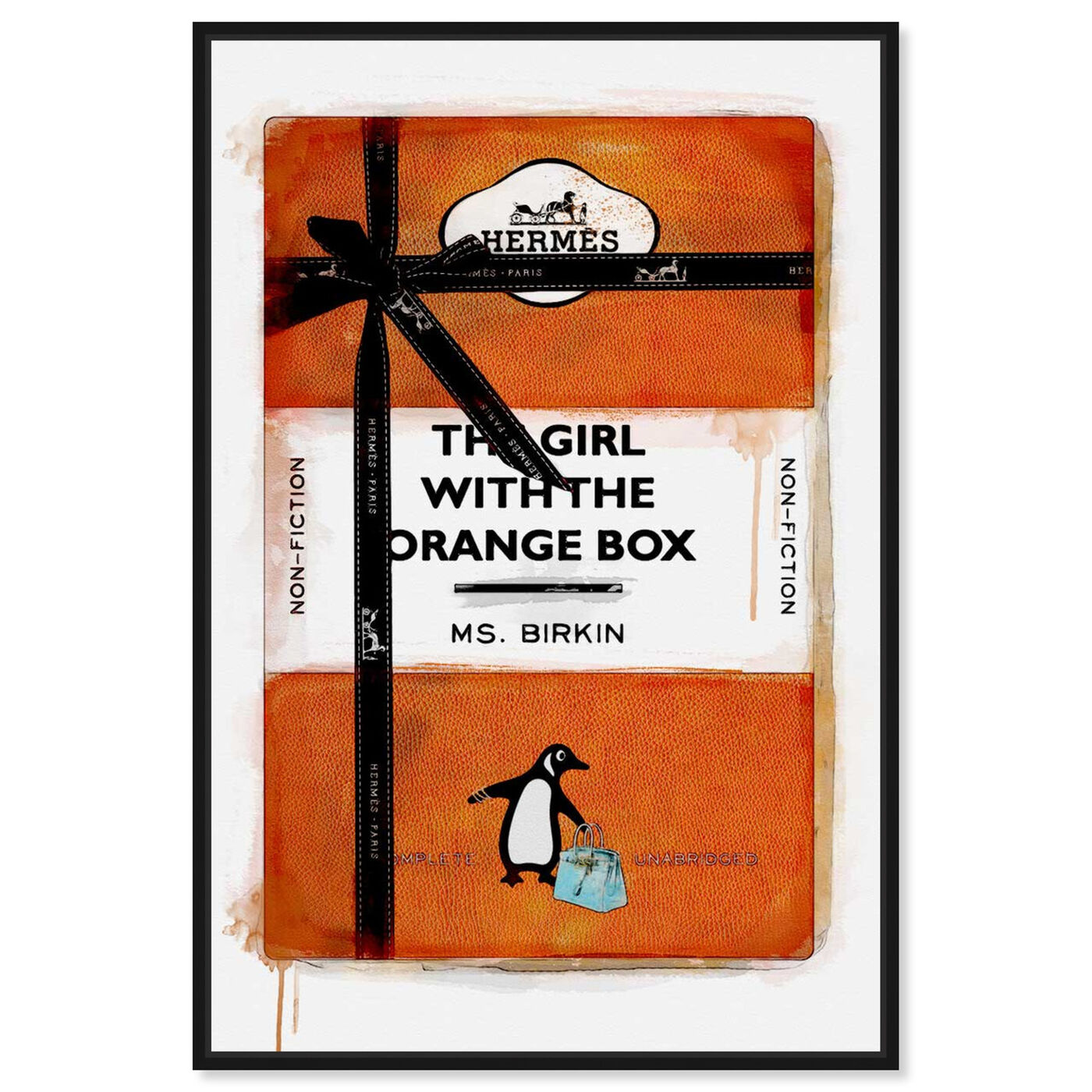 Front view of The Girl with the Orange Box featuring fashion and glam and books art.