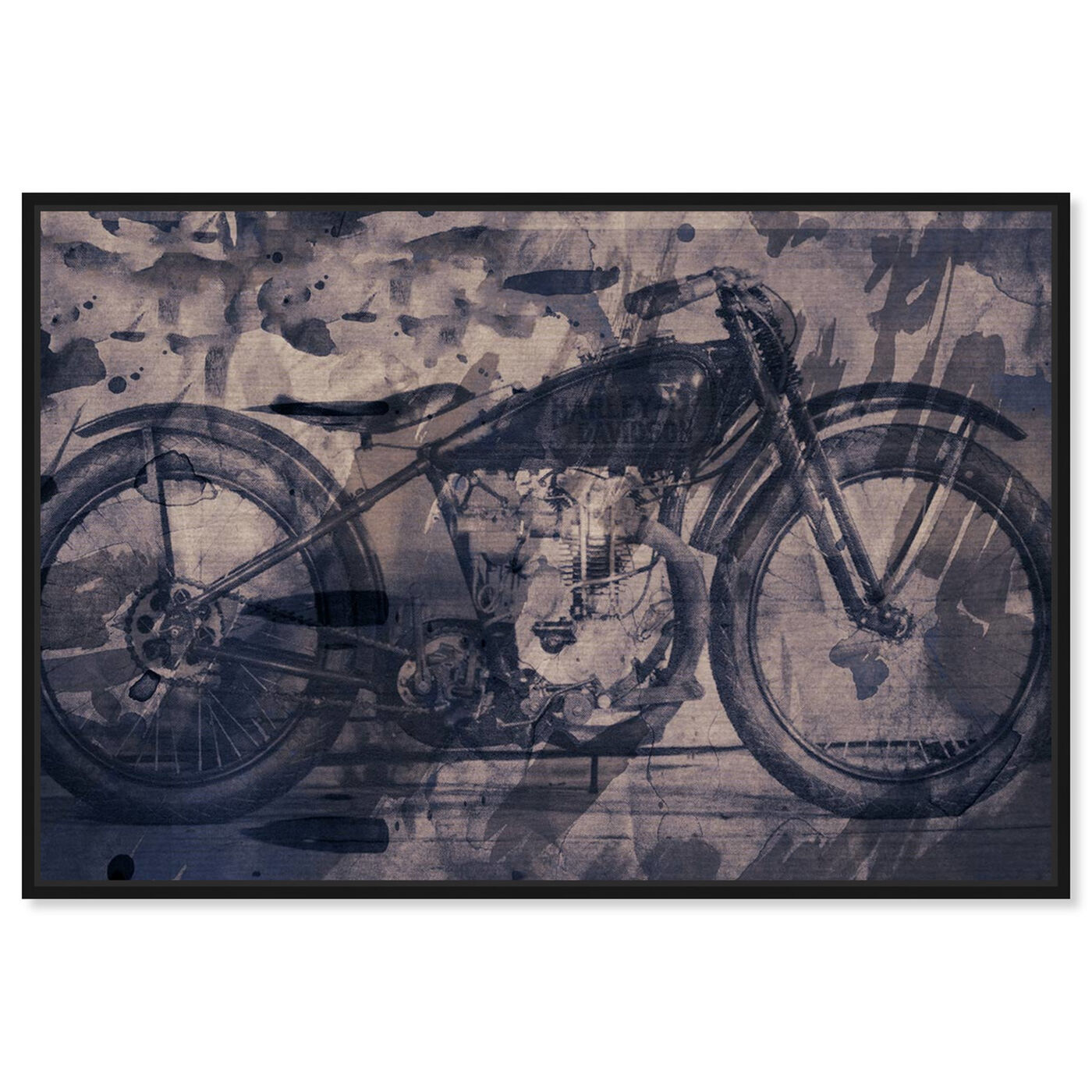 Front view of Vintage Bike featuring transportation and motorcycles art.