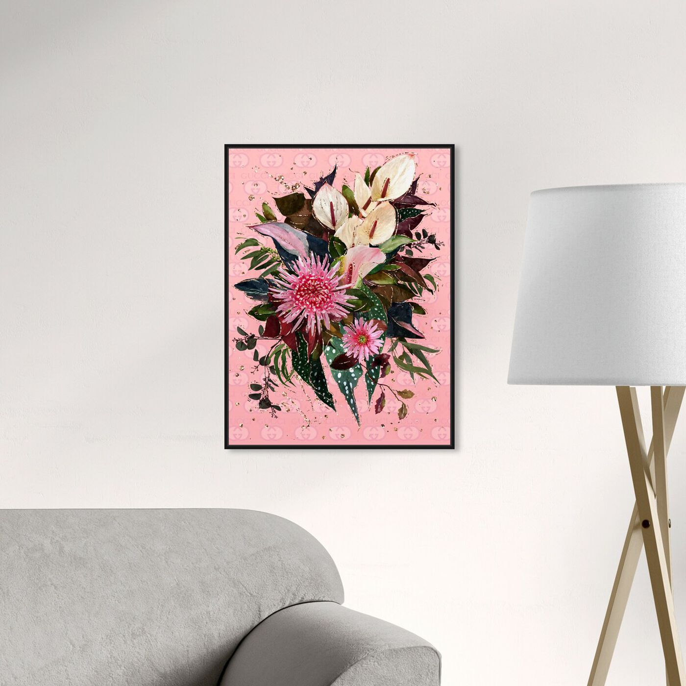 Hanging view of The Garden Bouquet featuring floral and botanical and florals art.