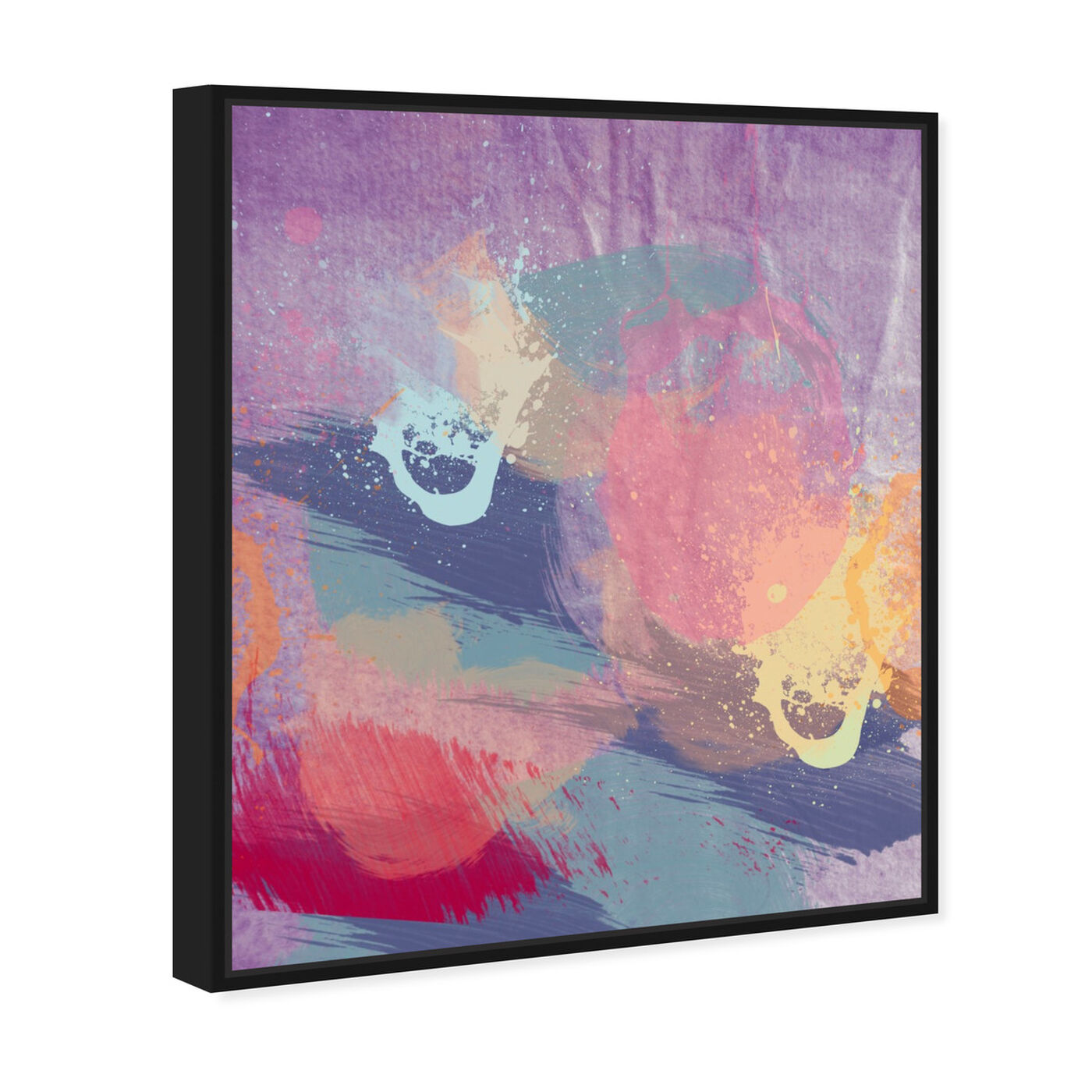 Angled view of Lavender Mist featuring abstract and paint art.