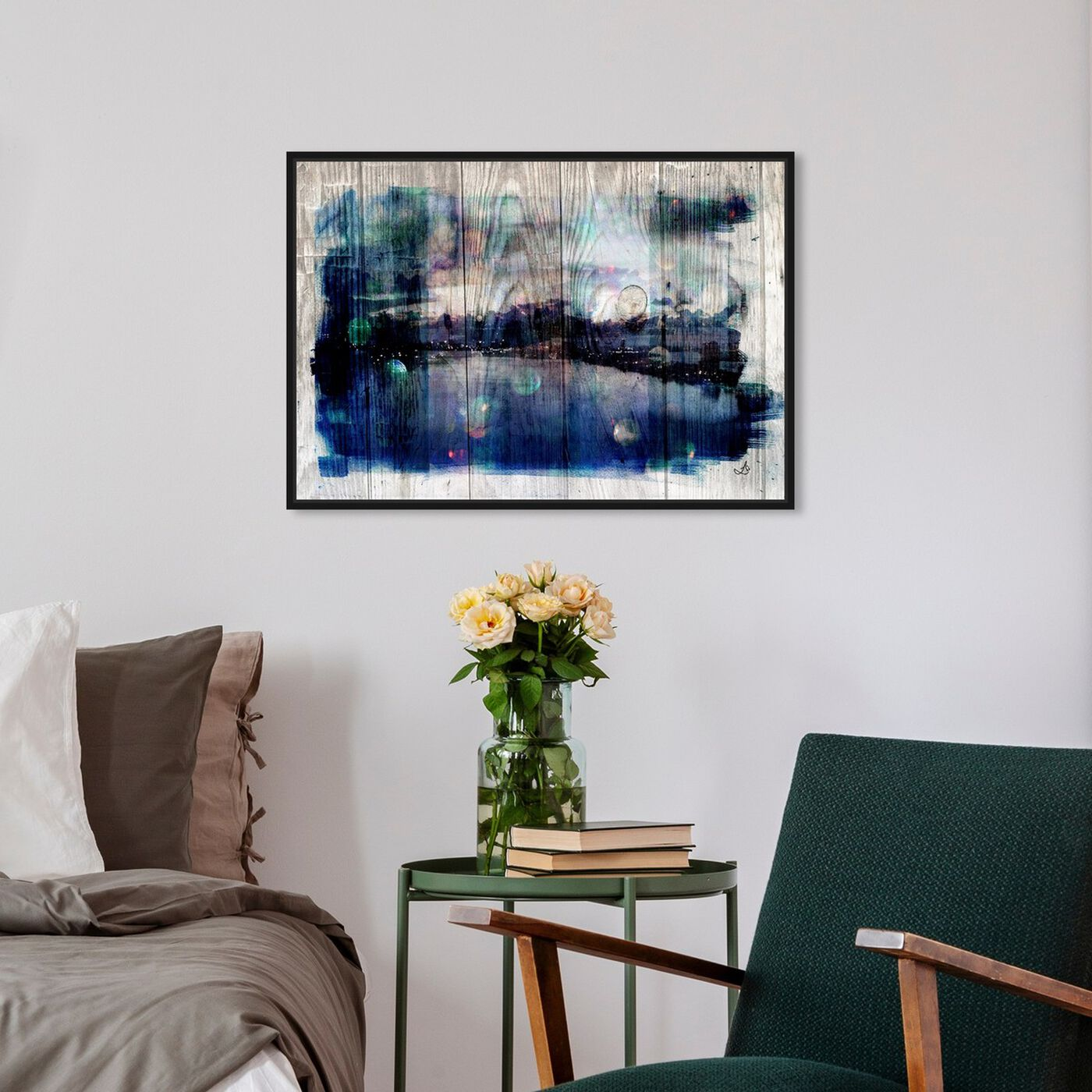 Hanging view of Coastal Dream featuring abstract and paint art.