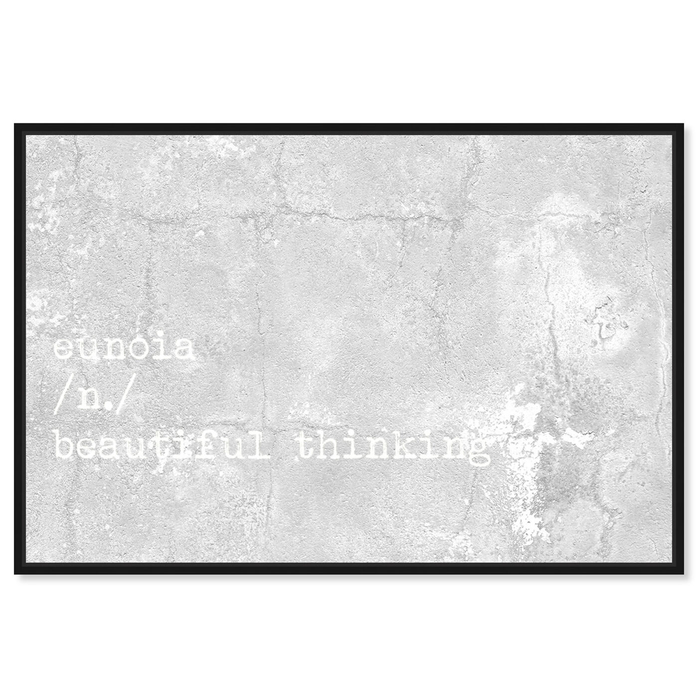 Front view of Beautiful Thinking featuring typography and quotes and beauty quotes and sayings art.