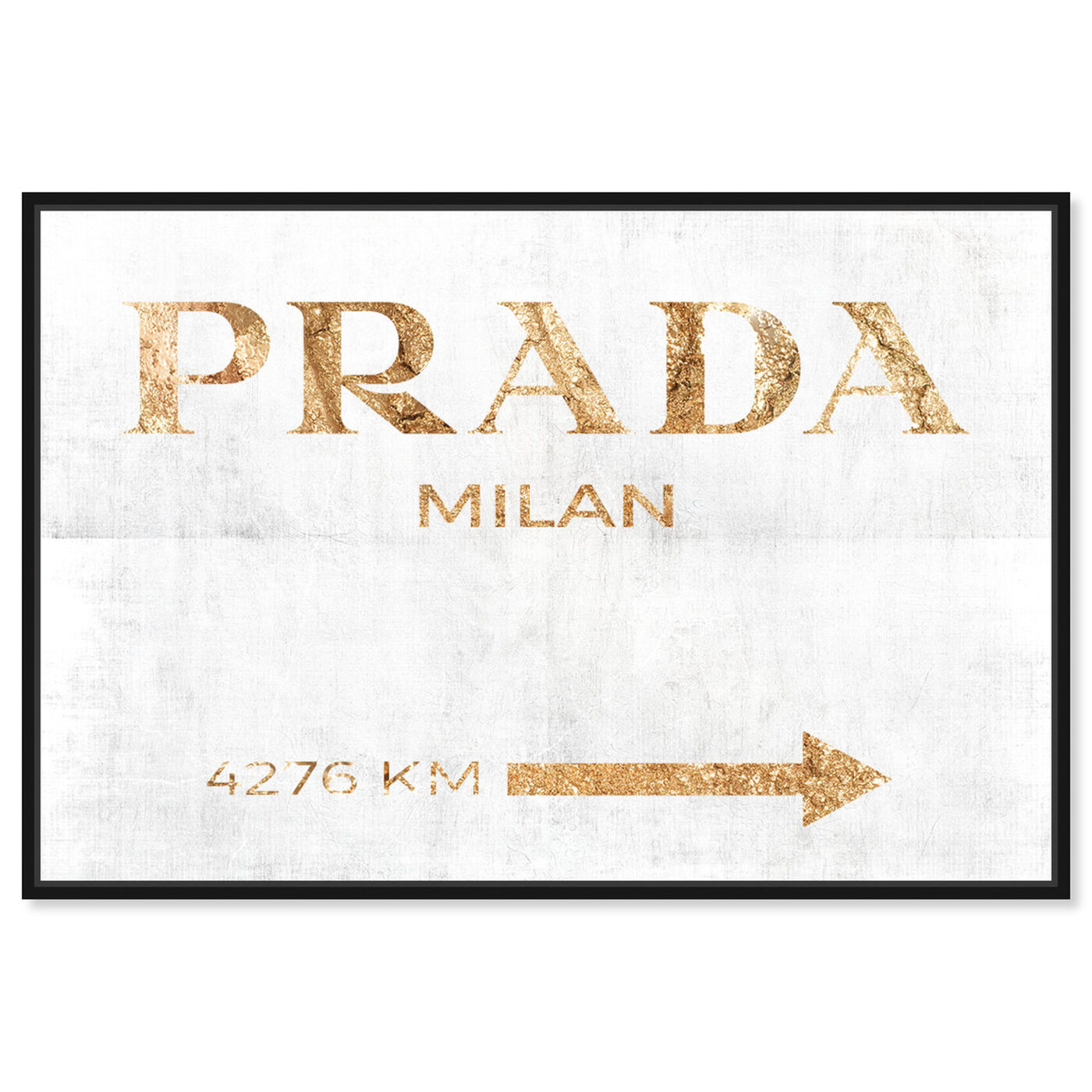 Front view of Milan Pure featuring fashion and glam and road signs art.