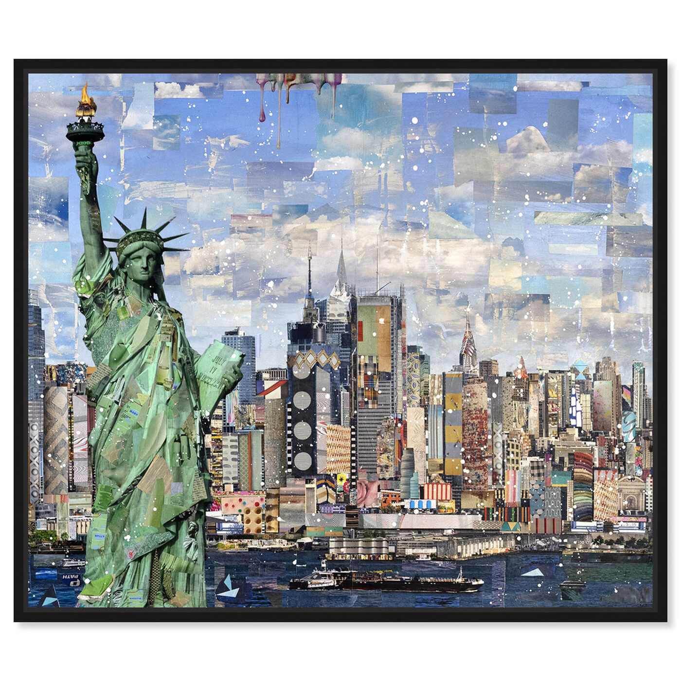Front view of Katy Hirschfeld - Visage of Liberty featuring cities and skylines and united states cities art.