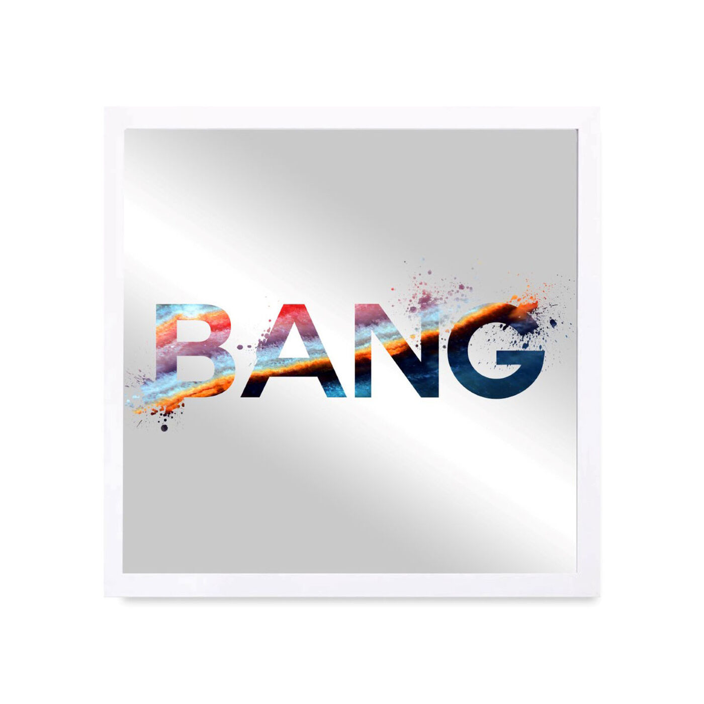 Front view of BANG BOOM featuring typography and quotes and quotes and sayings art.
