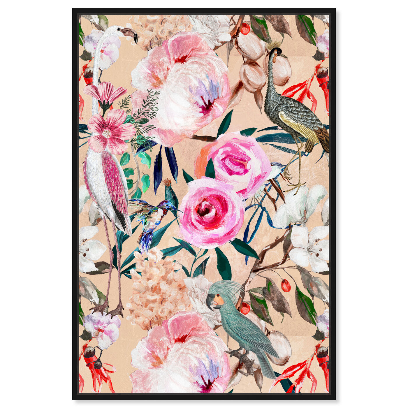 Front view of Le Tropic II featuring floral and botanical and florals art.